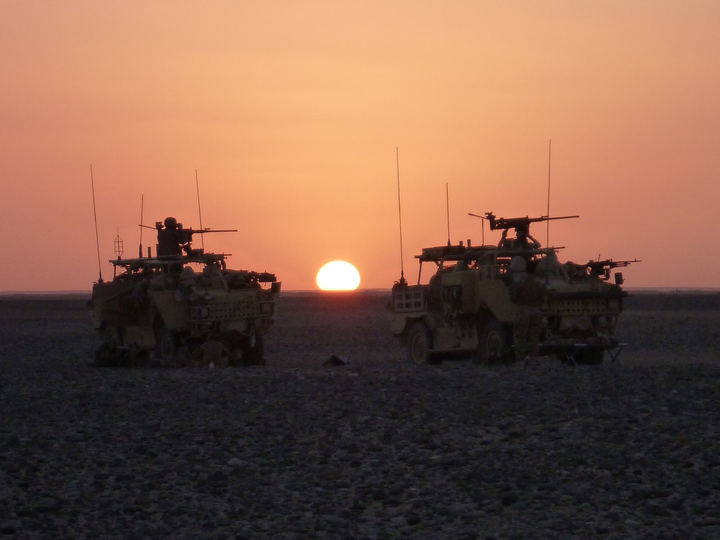 Watching the sun set in Helmand Province, Afghanistan.