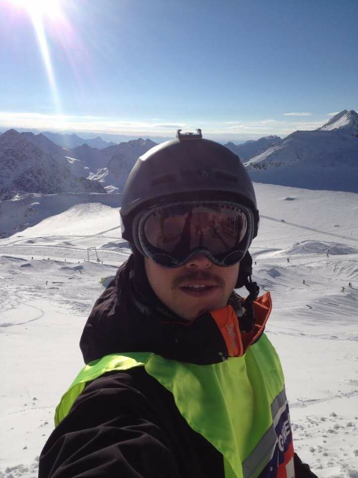 Snowboarding for the Royal Engineers.