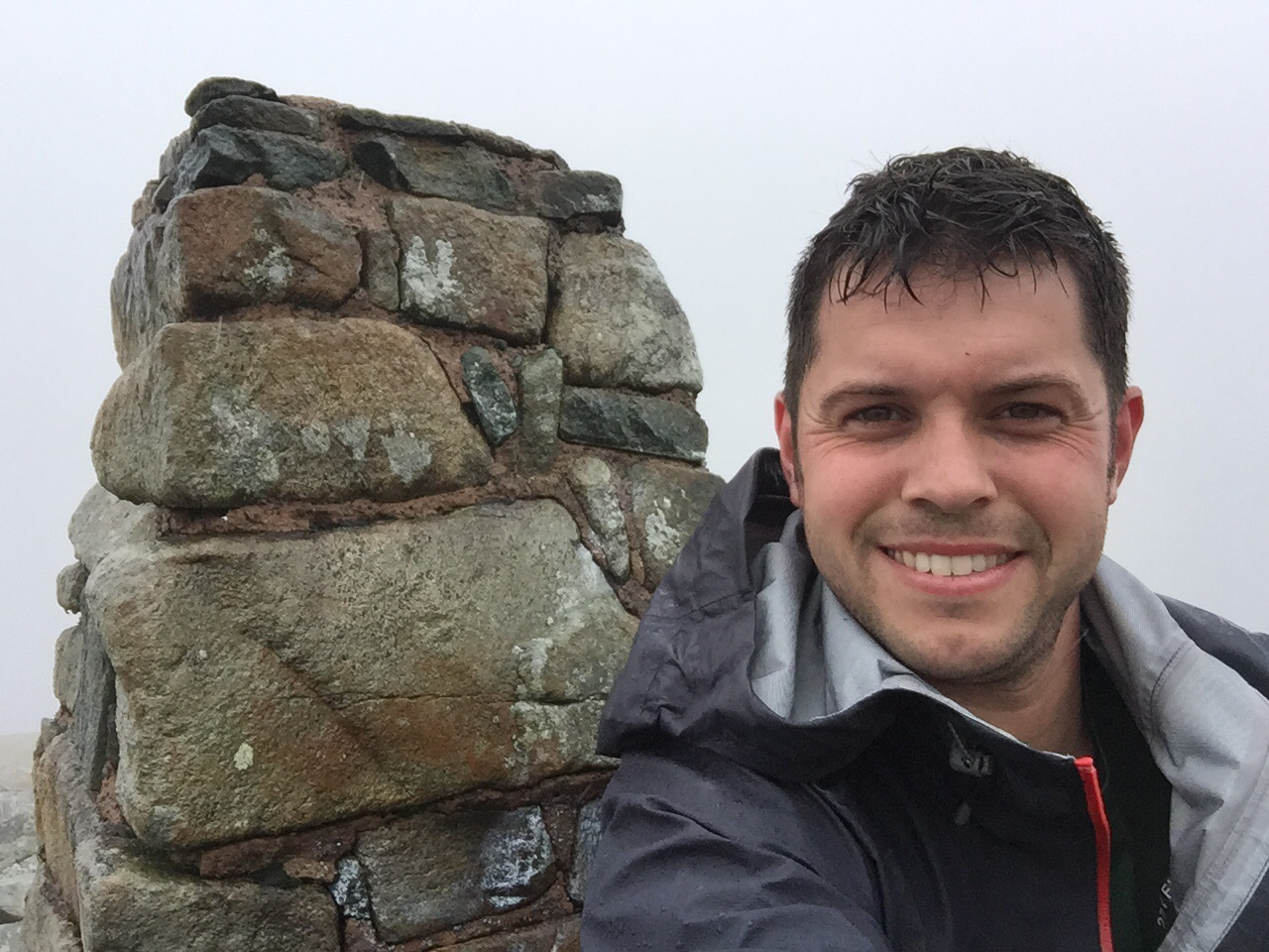 On the summit of Foel-fras.