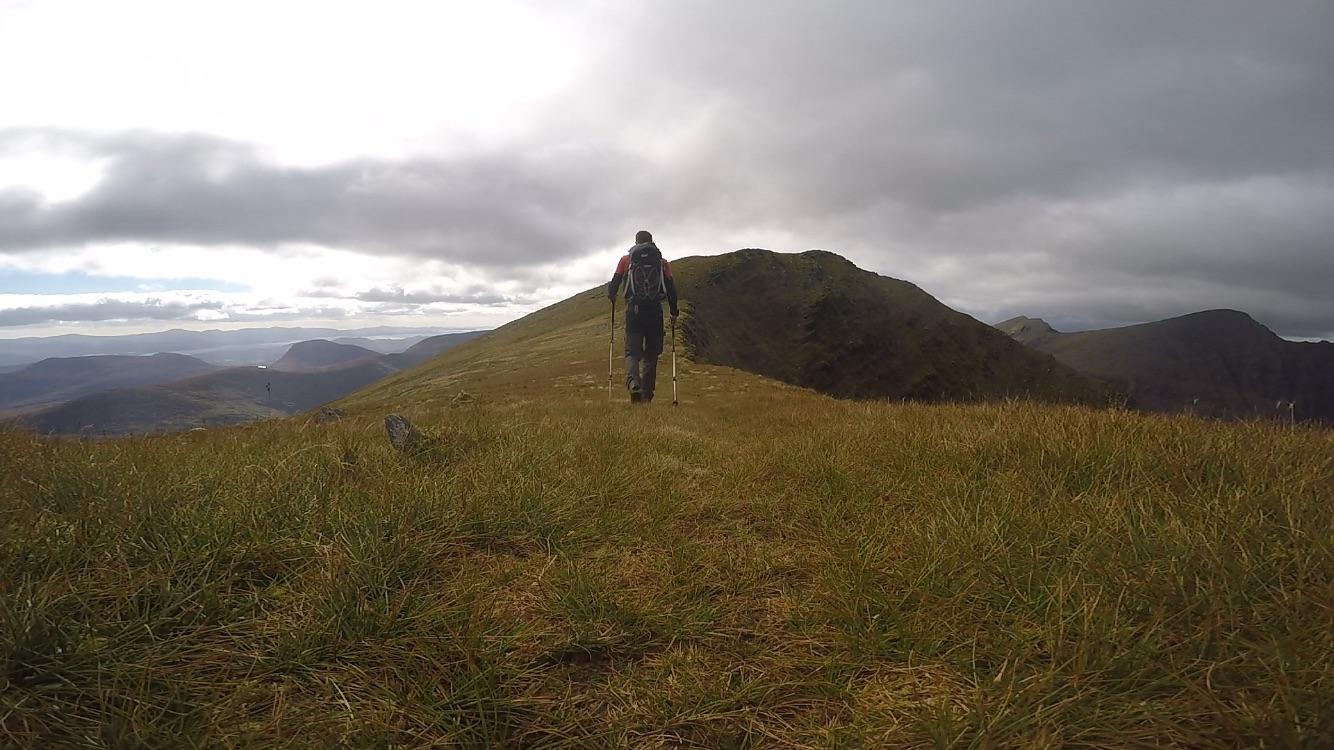Hiking in the hills of Kerry