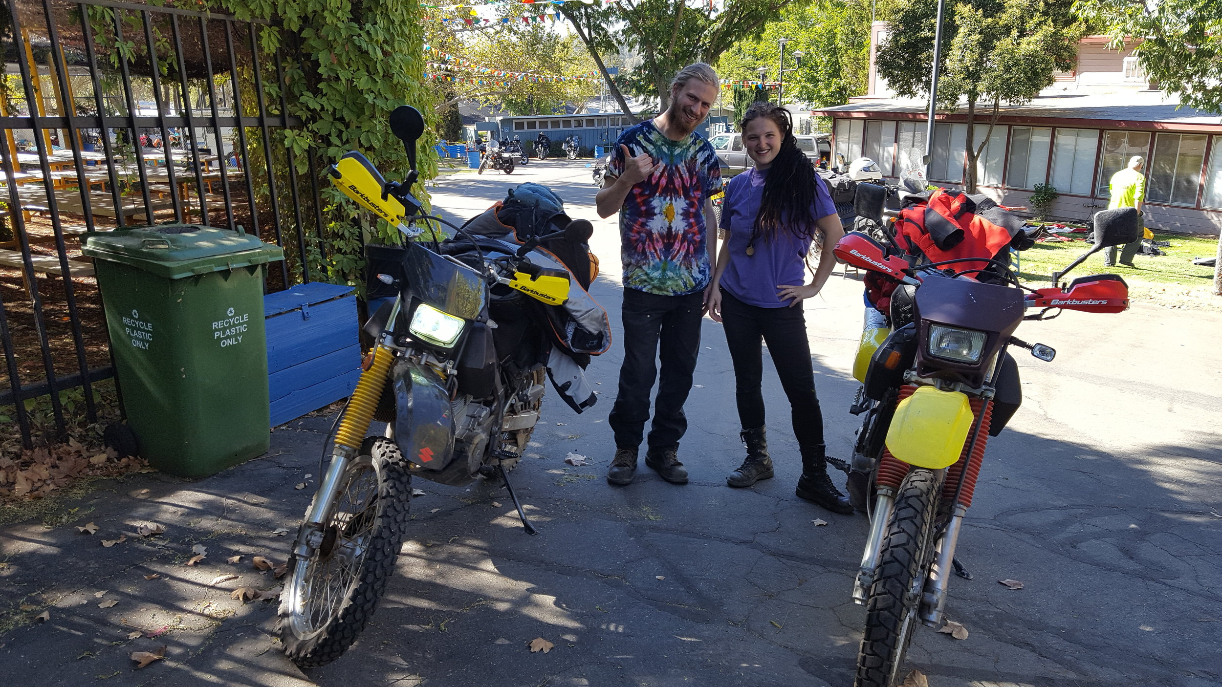 Alex and Chelsea. These guys set off soon on a five year epic journey around the world. Good luck guys and see you on the road somewhere .