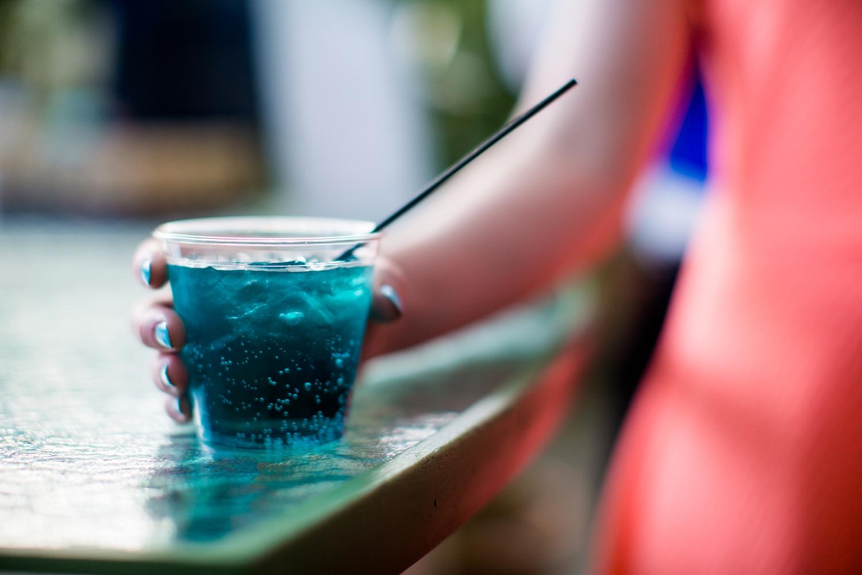 """Debra and Zach's signature drink was the """"Bibbity Bobbity Blue."""""""