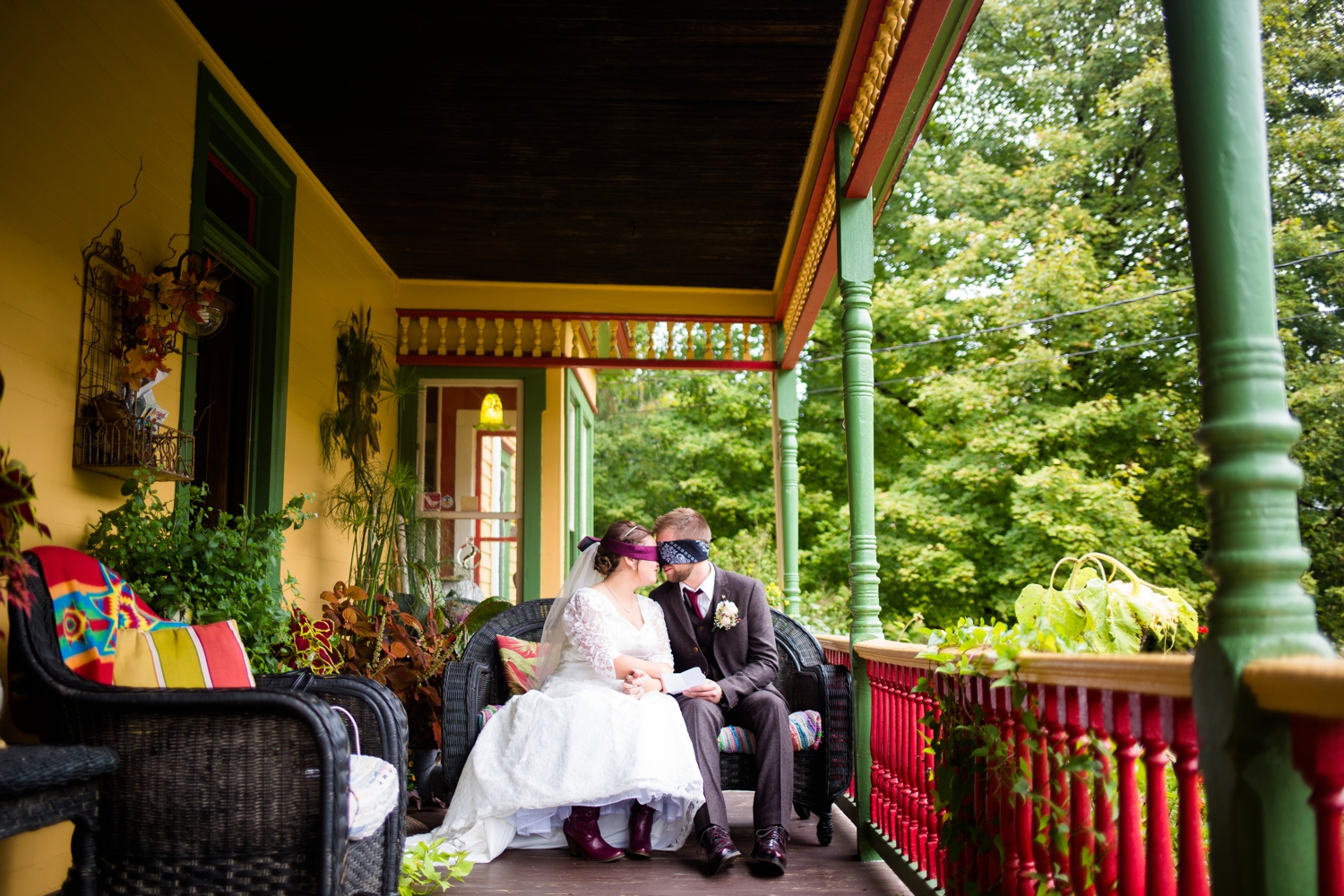 Praying together before the ceremony.