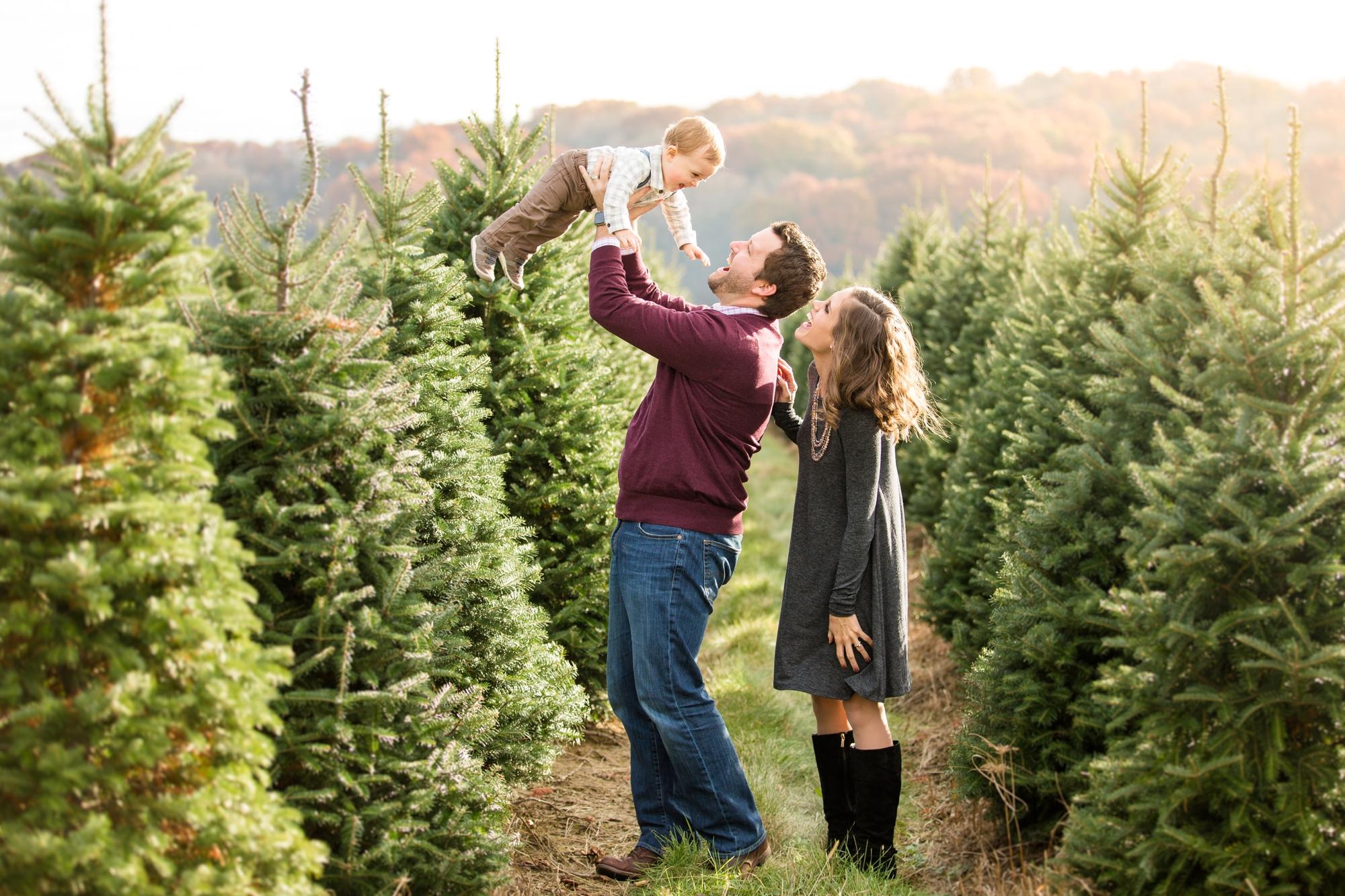 Jones Family Christmas Tree Farm Family Photos Jenna Hidinger Photography