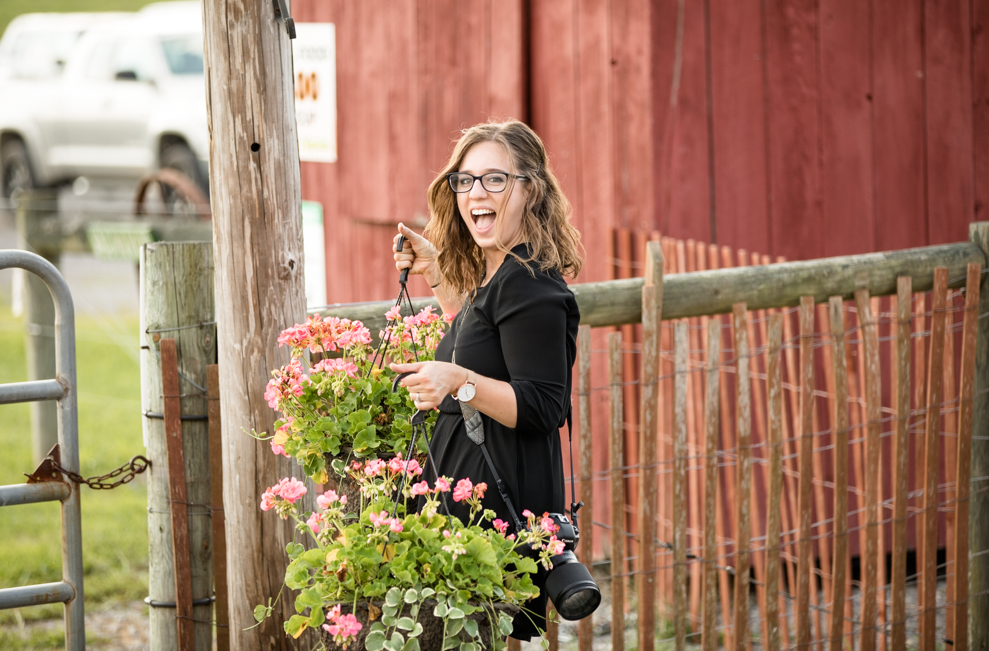 Totally stole these flower baskets for a shot! It was so worth it!!