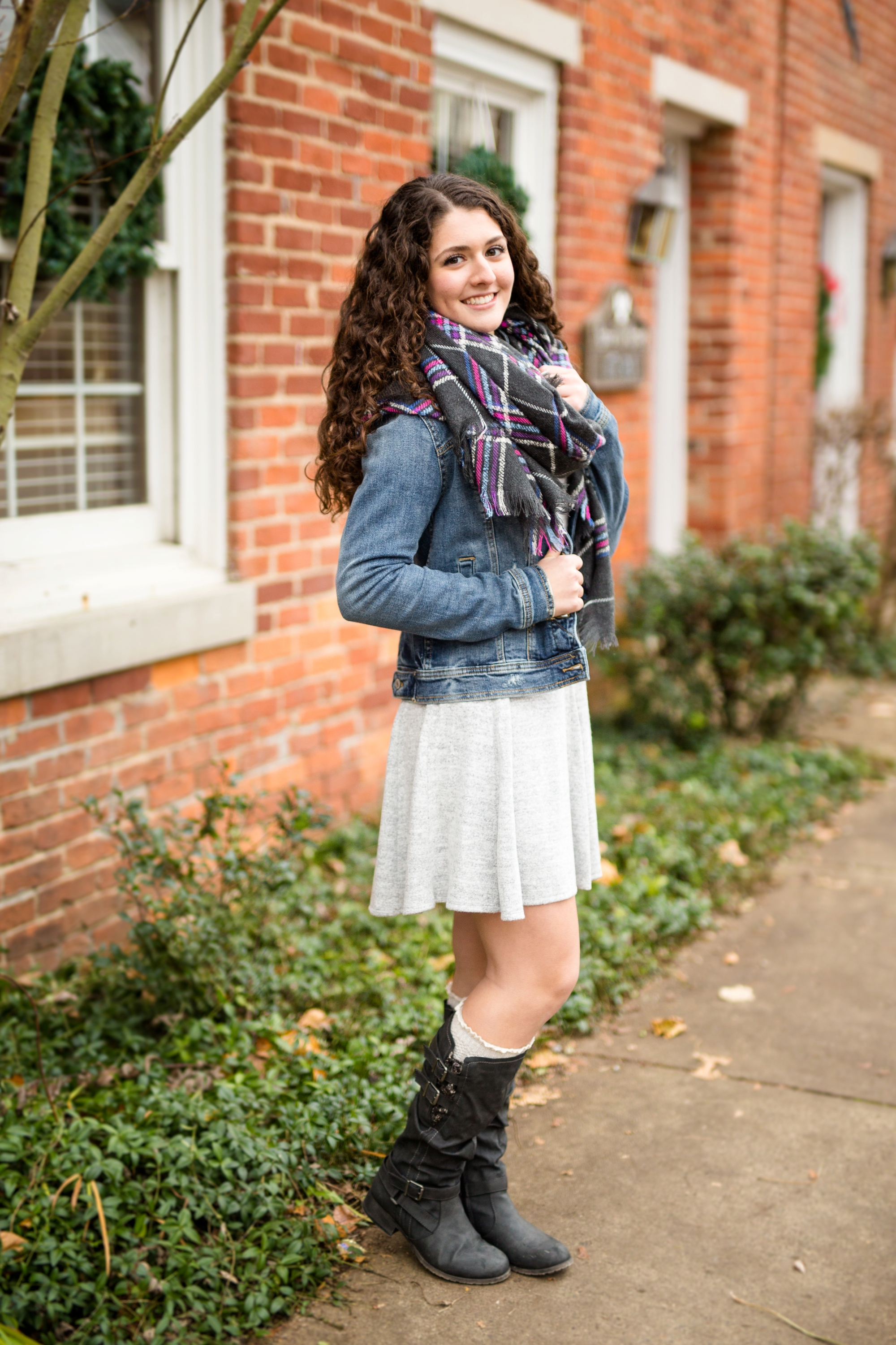 A blanket scarf and a jacket not only look adorable, but have you ever worn a blanket scarf?! They are SO WARM!
