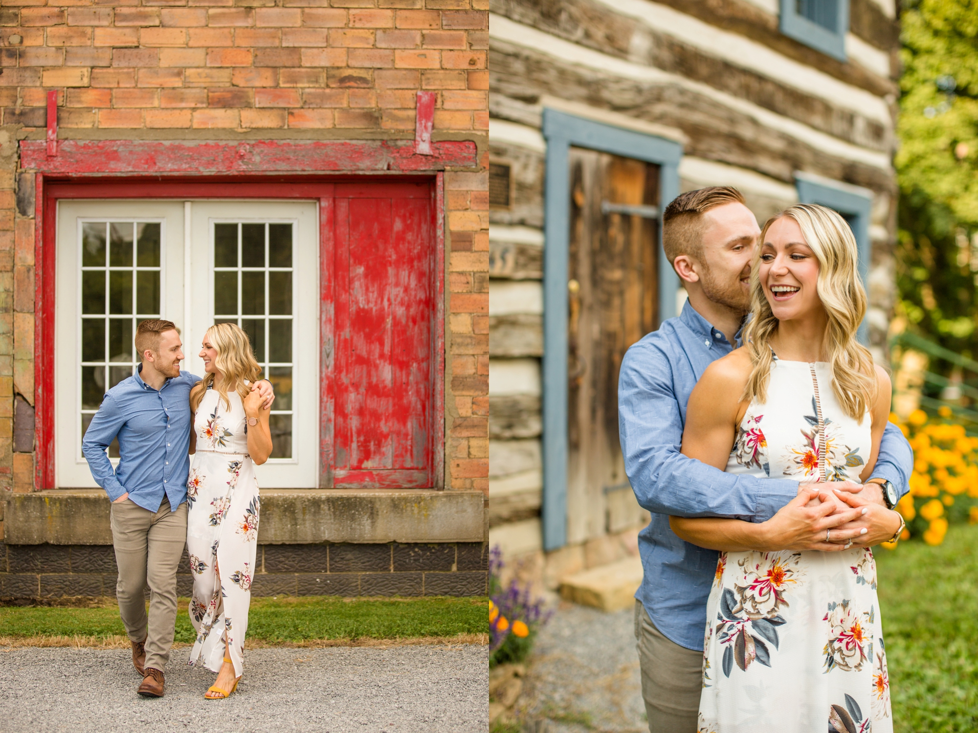 pittsburgh engagement photographer, pittsburgh wedding photographer, soergels orchard engagement photos, fall engagement session ideas, historic harmony engagement photos