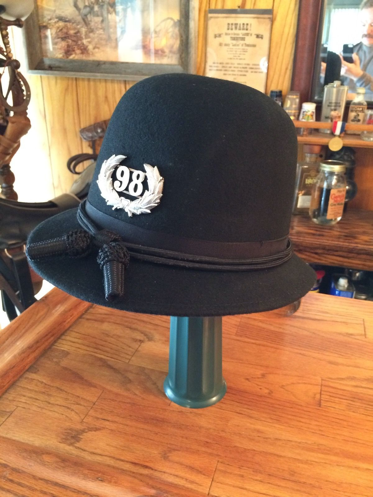 BSL 1890's REPRODUCTION LAPD HAT WITH HAT CORD