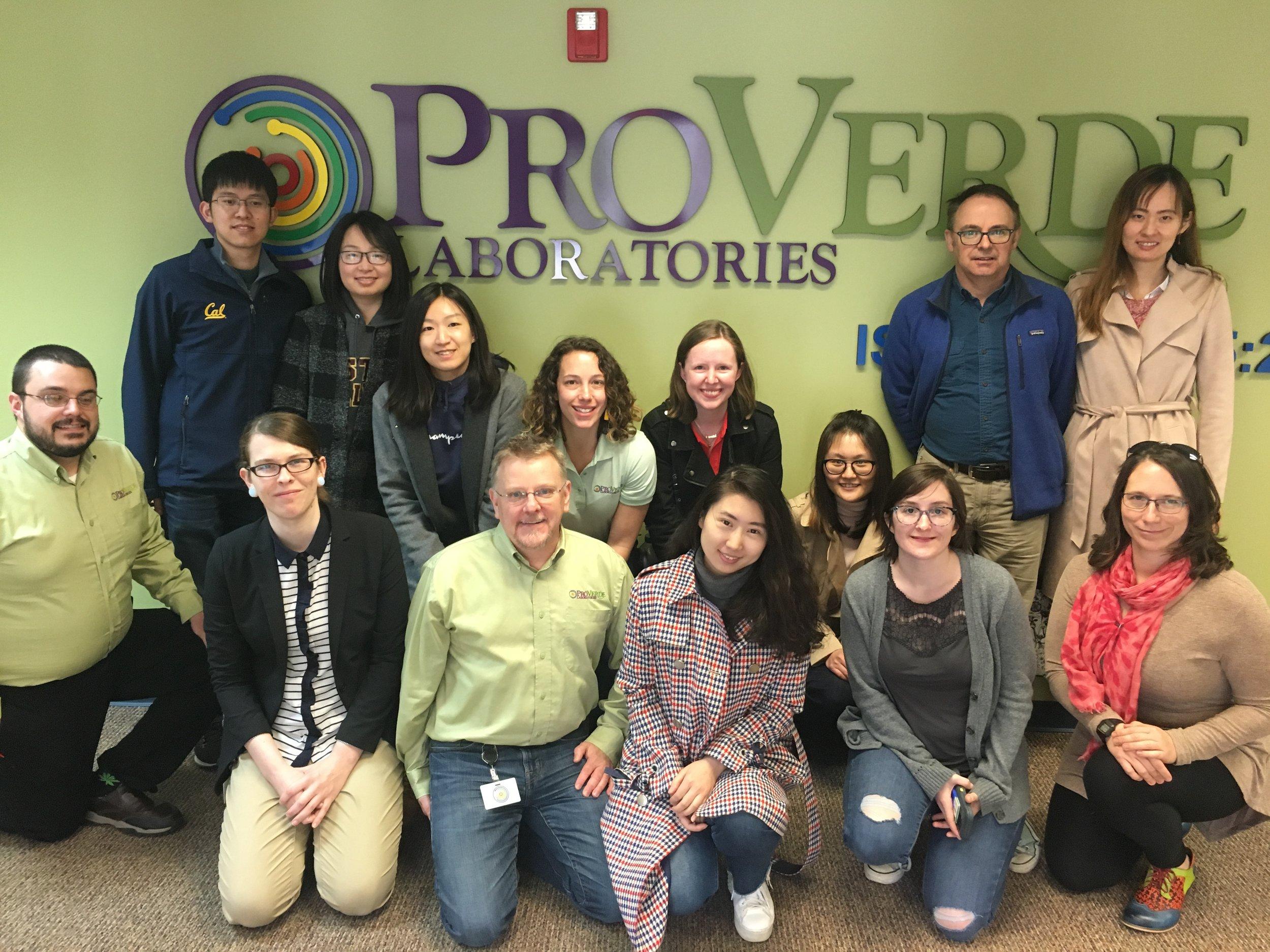 April 2019: ProVerde Laboratories, Milford, MA