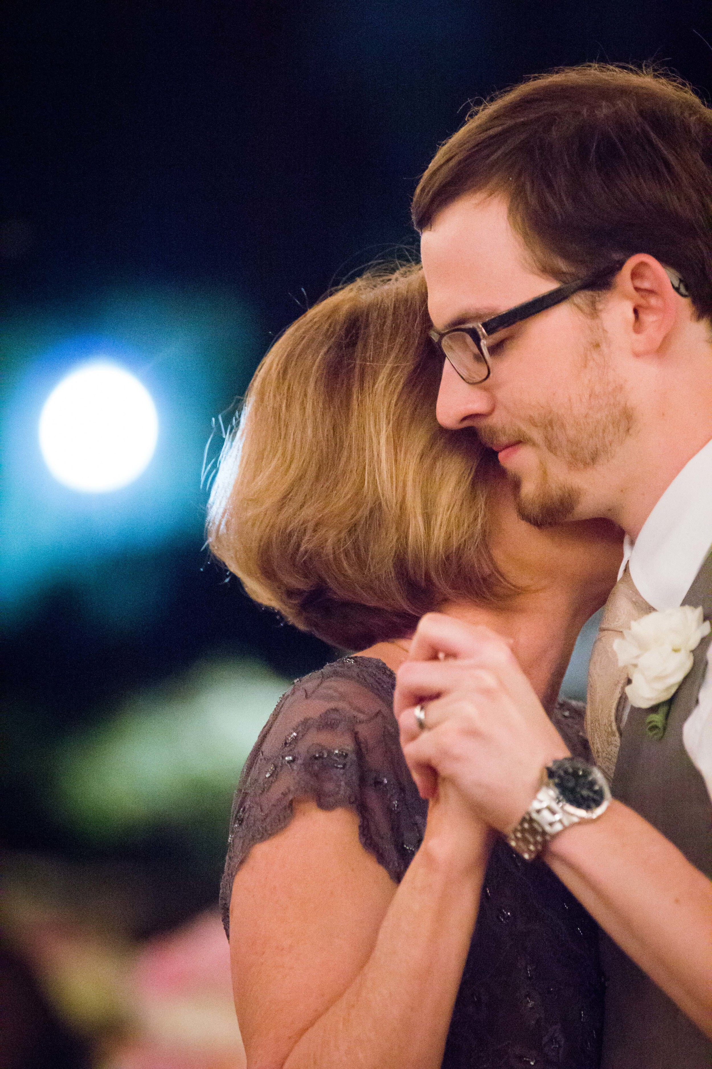 Sweet mother son dance at a Wedding