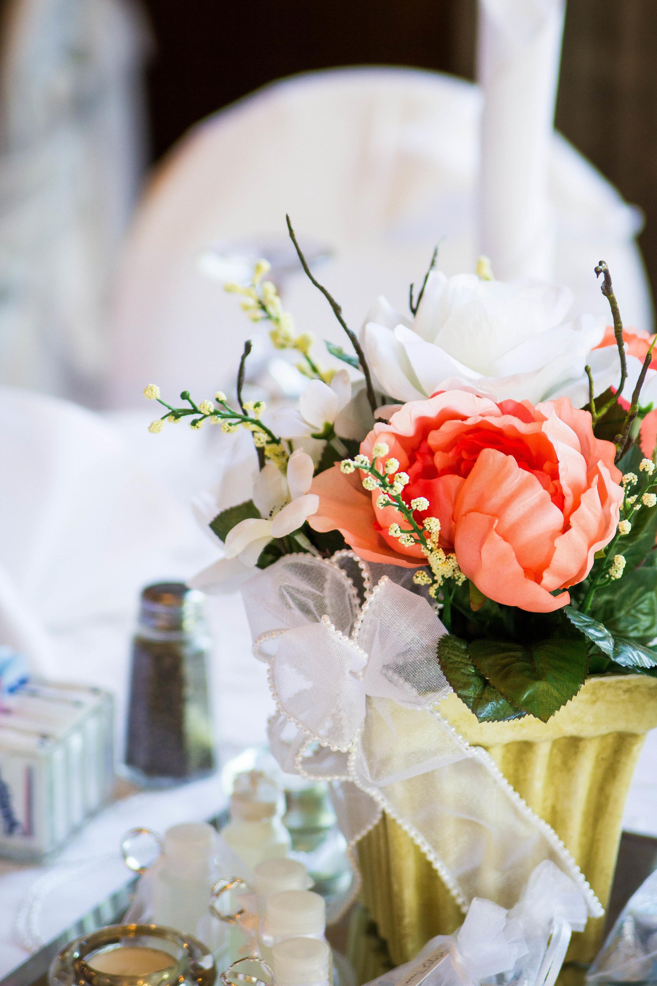 Centerpieces from an Indoor Ballroom Wedding in Orlando