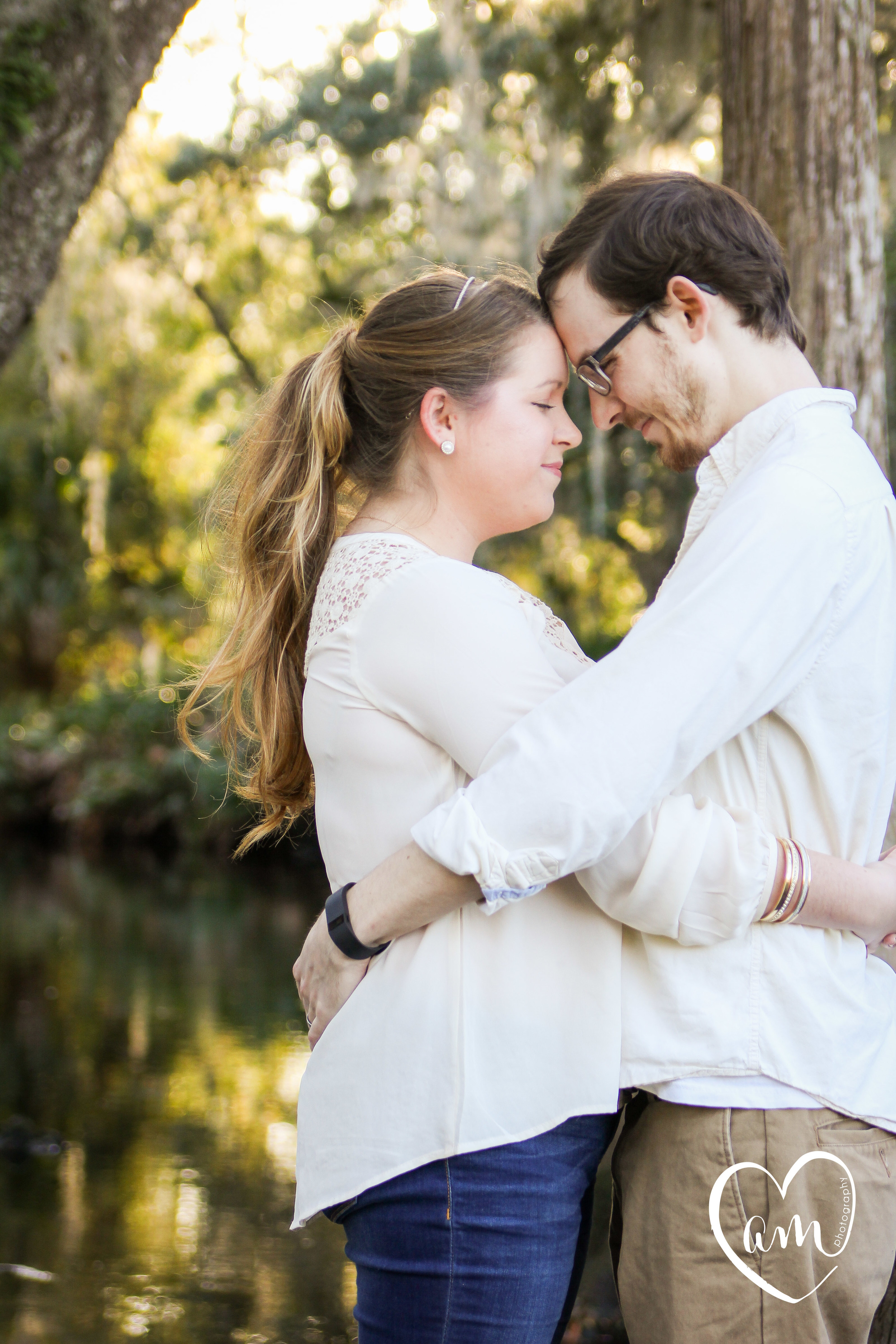 Sweet couple during an engagement photography session in Orlando