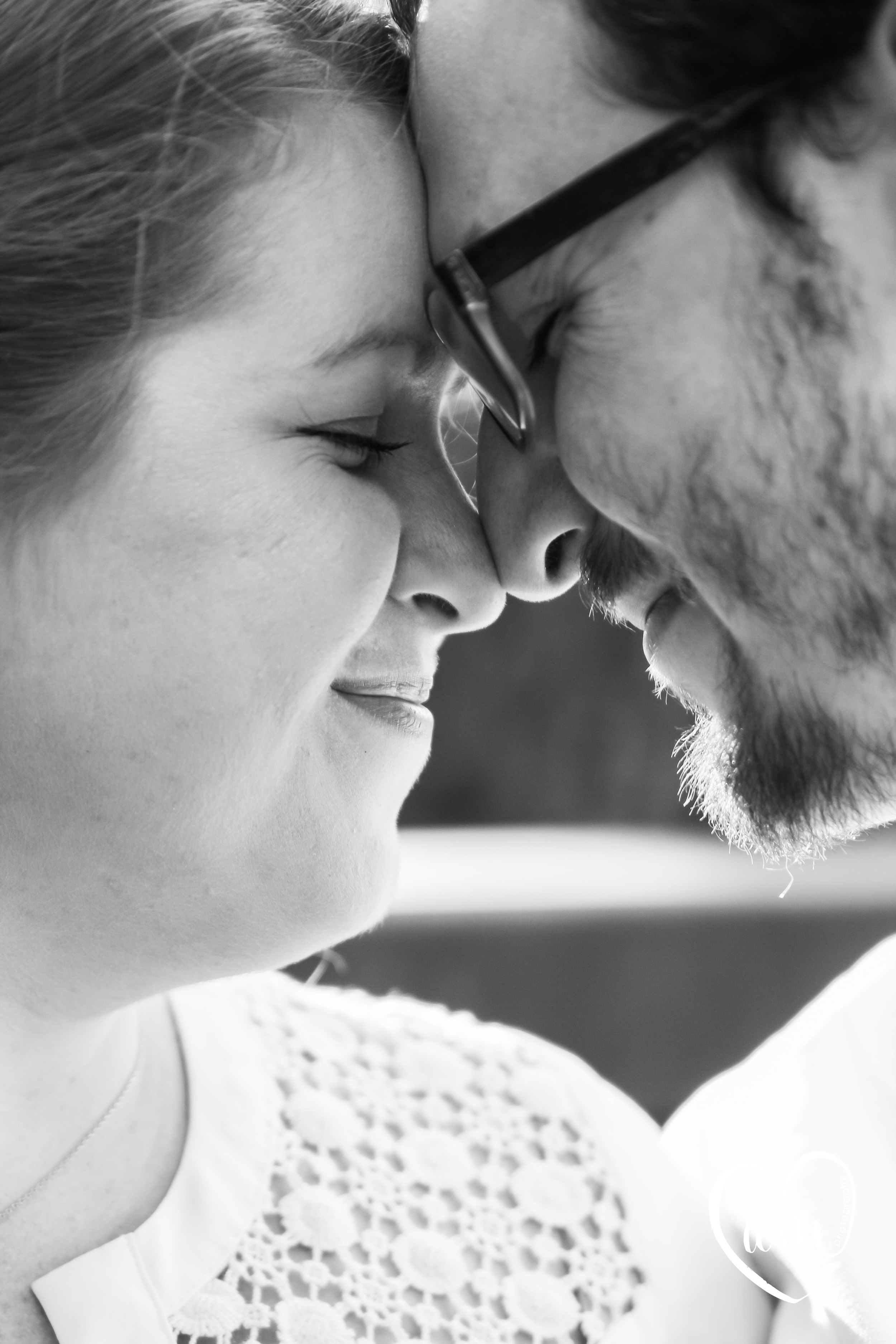 Romantic engagement photography at Shingle Creek Regional Park in kissimmee
