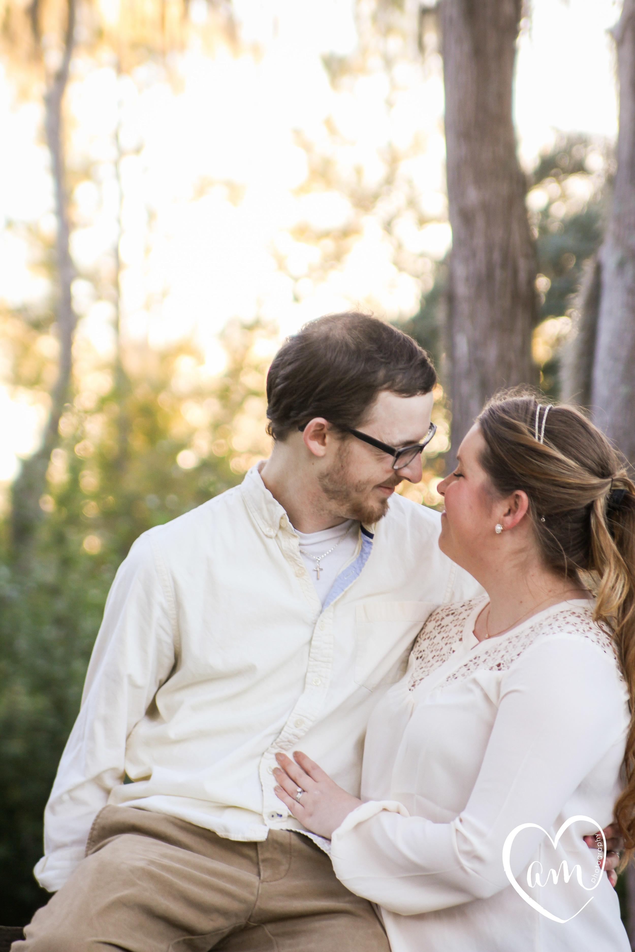 romantic engagement photos at shingle creek regional park in kissimmee