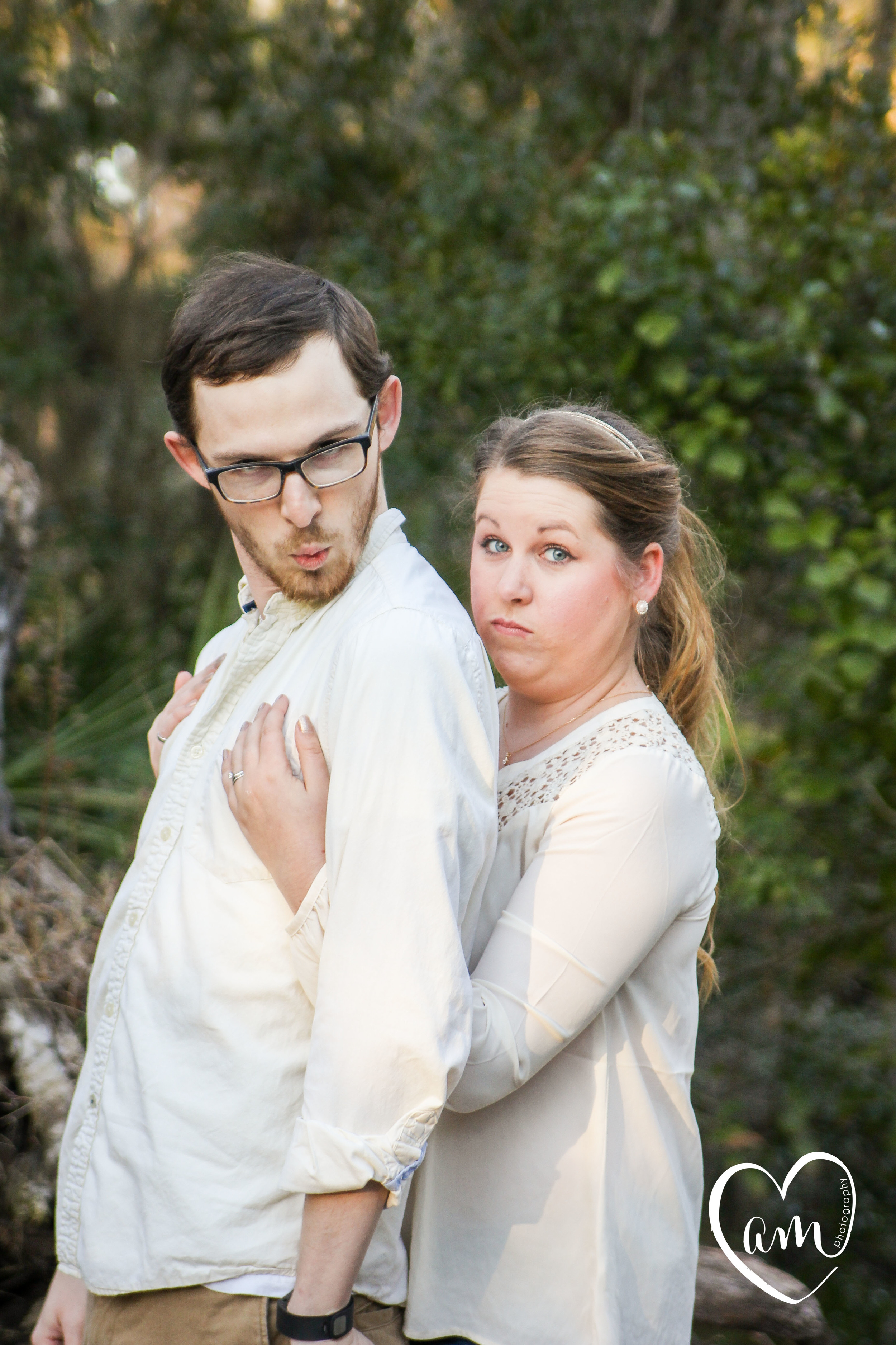 Quirky and silly shingle creek engagement photos