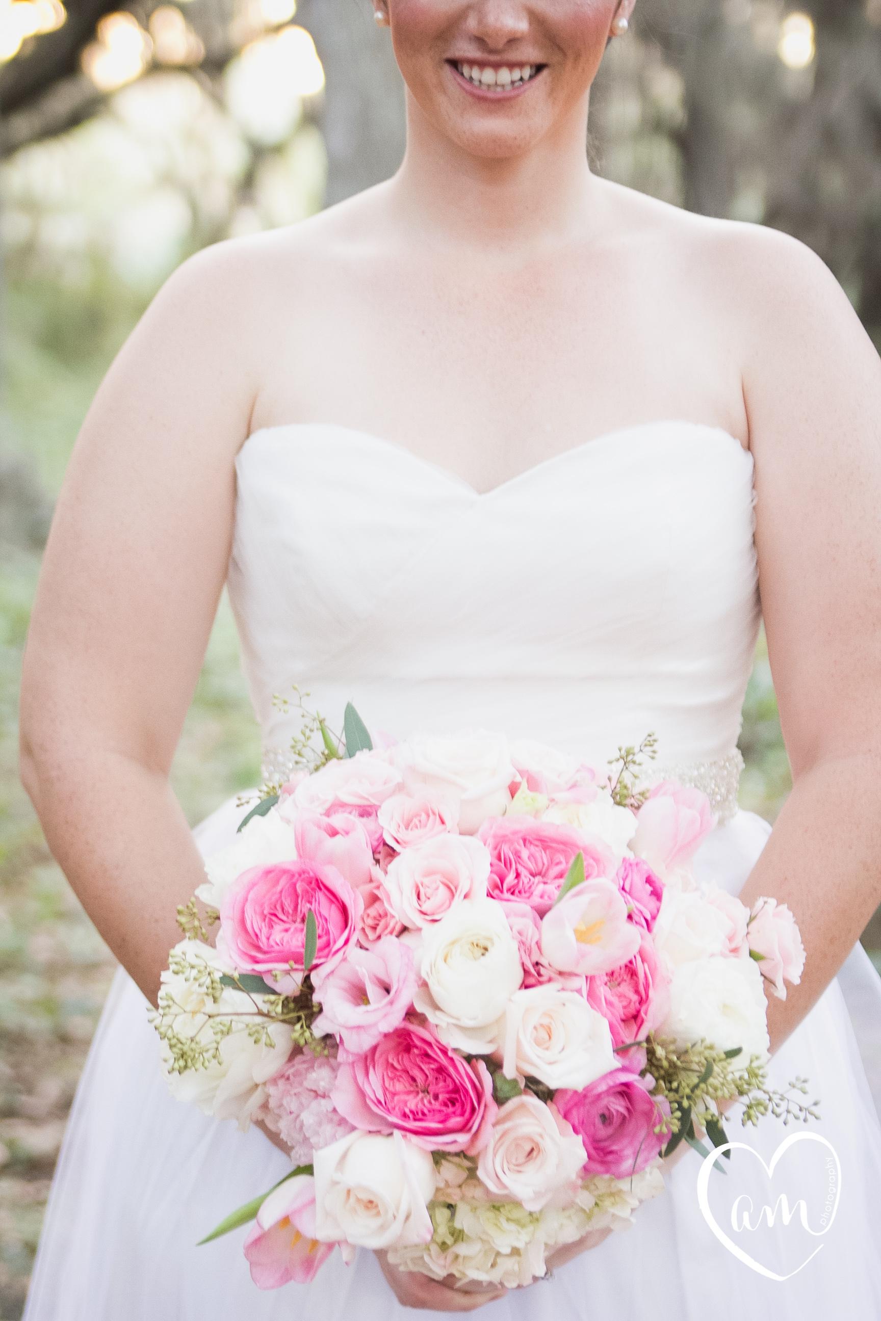 Pink Bouquet photographed by Florida Destination Wedding Photographer