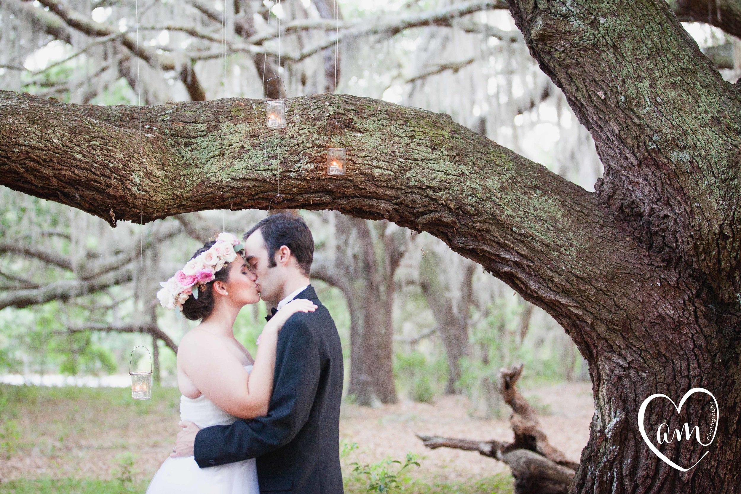 Romantic Bride and Groom Portraits photographed by Florida Destination Wedding Photographer