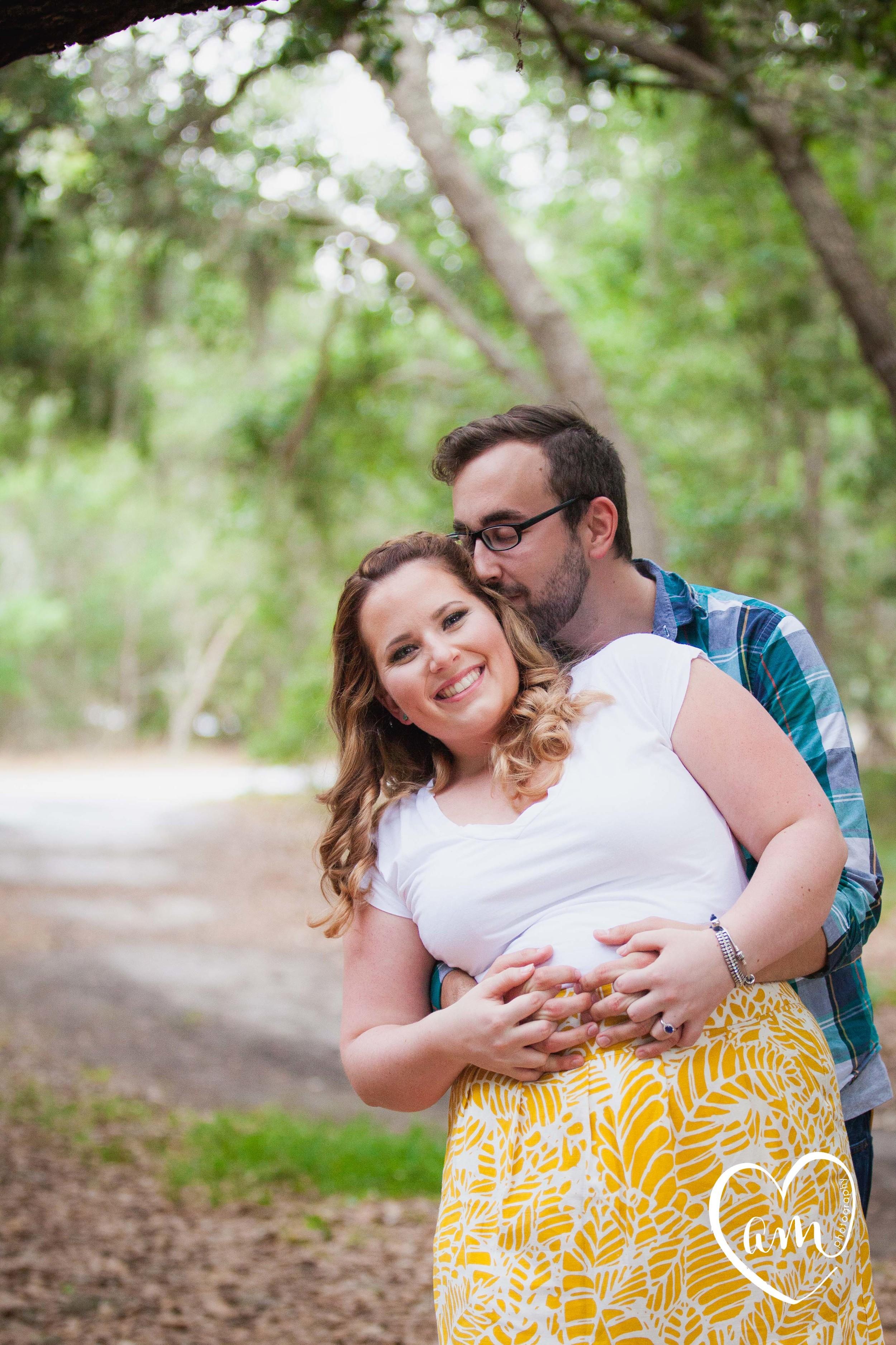 Forest engagement photos by Amanda Mejias Photography: Orlando Wedding Photographer