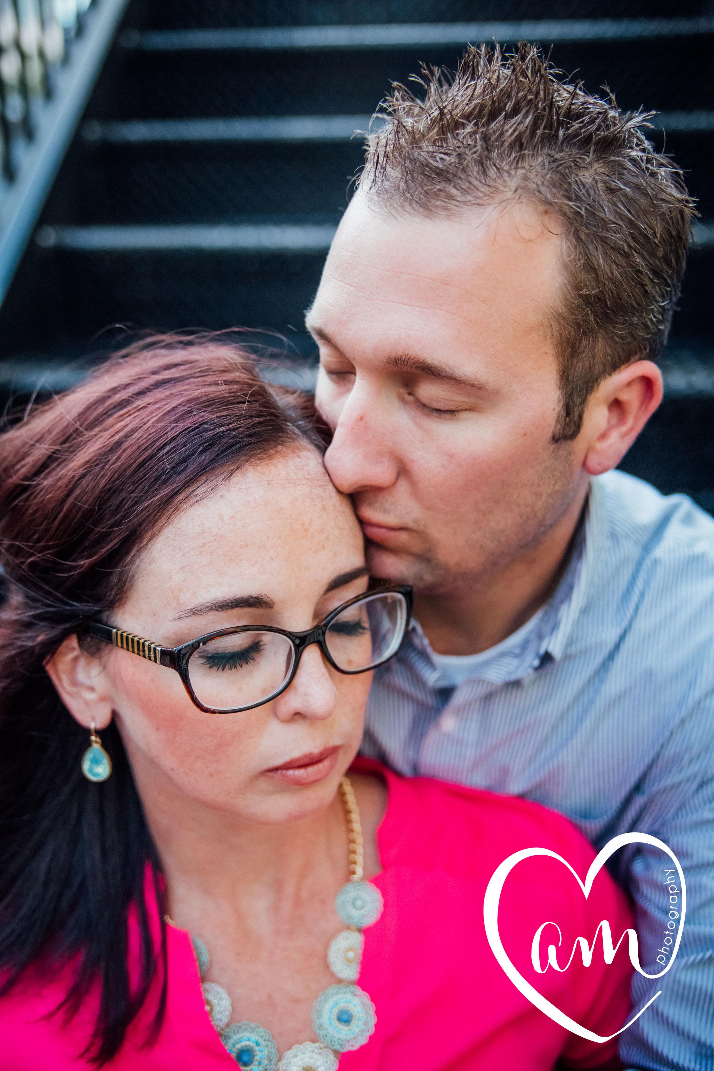 Downtown Orlando engagement photographs. Church Street engagement session. Photo by Amanda Mejias Photography: Orlando wedding photographer.