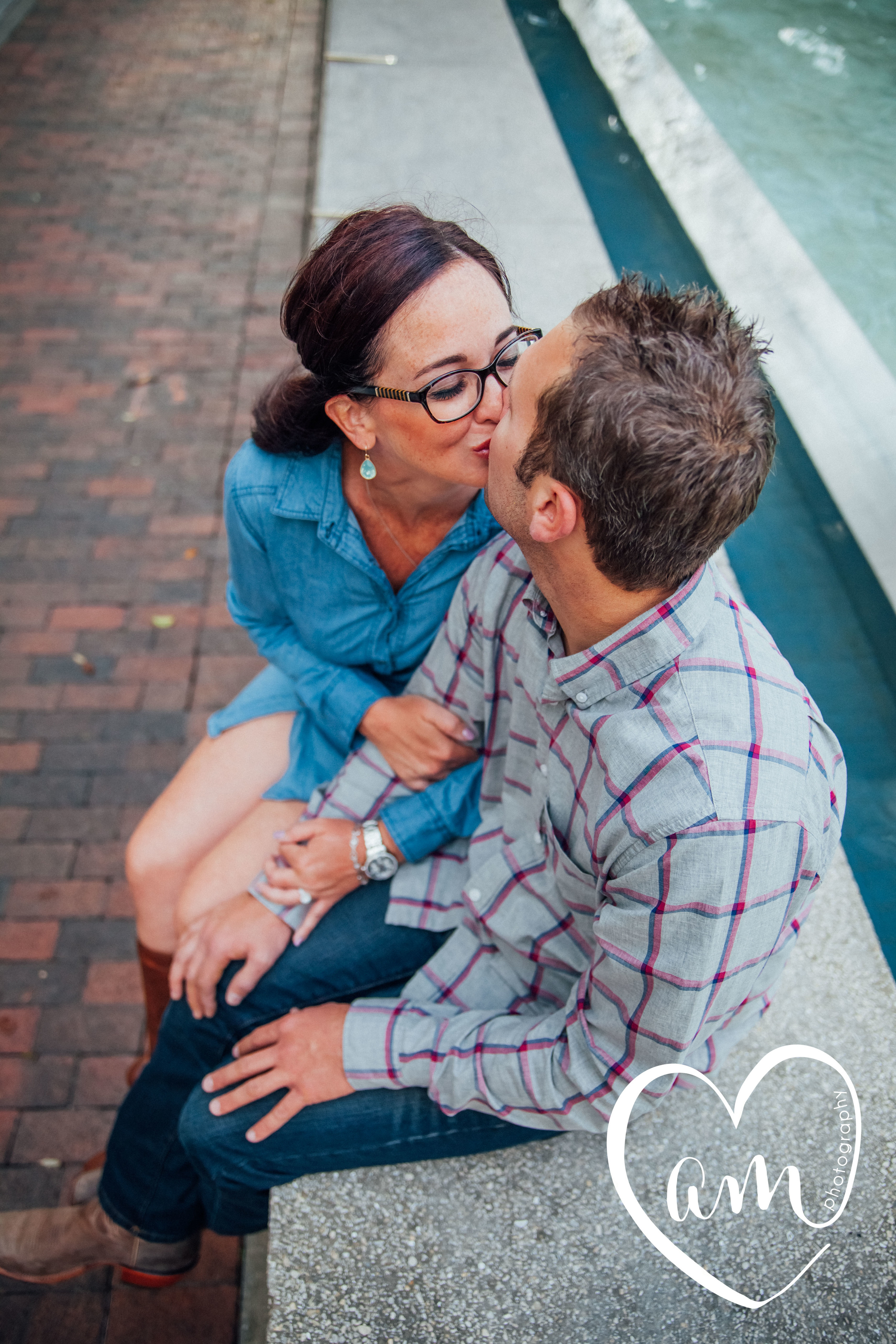 Orlando engagement pictures. Church Street engagement session. Photo by Amanda Mejias Photography: Orlando wedding photographer.