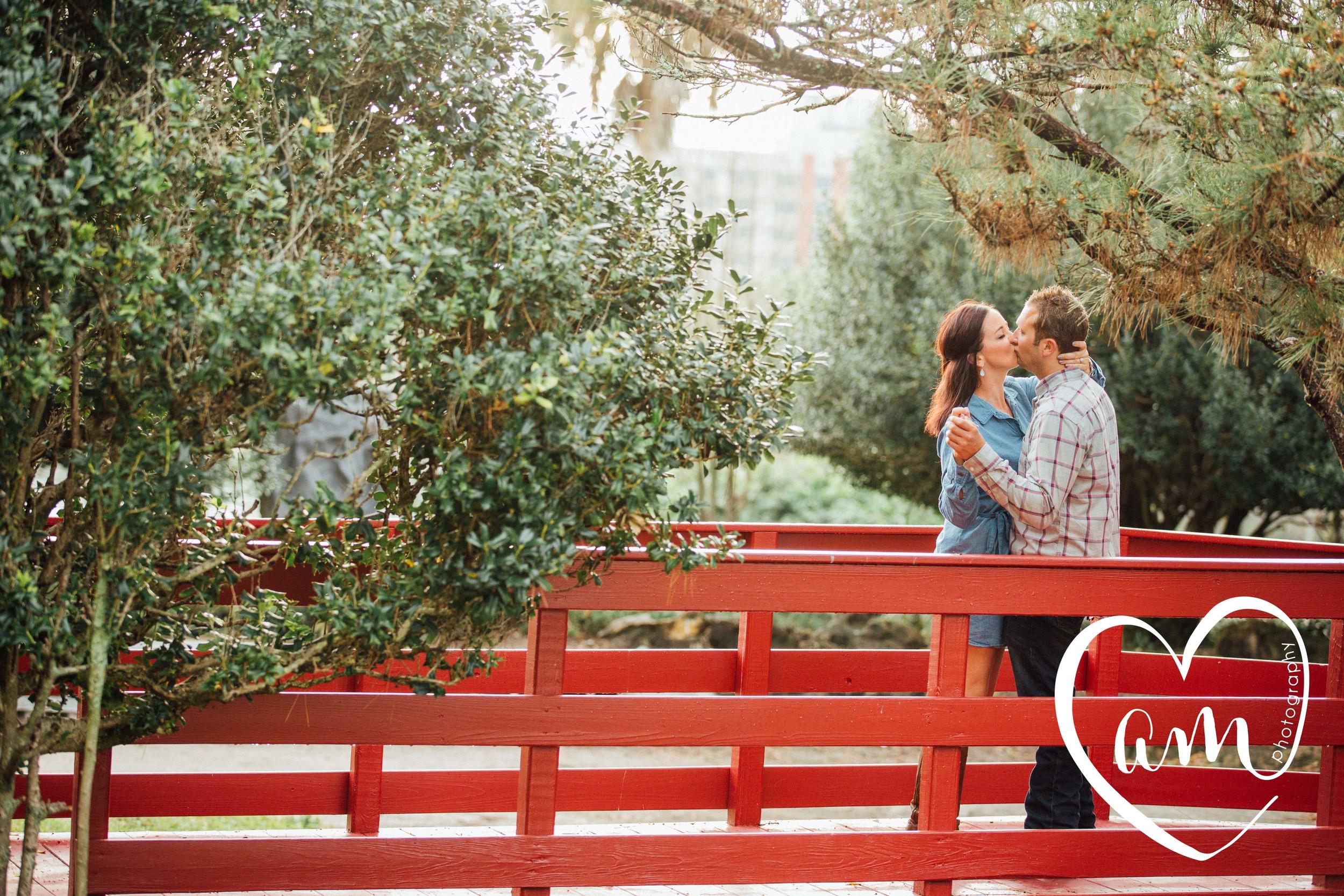 Engagement session at Lake Eola. Church Street engagement session. Photo by Amanda Mejias Photography: Orlando wedding photographer.
