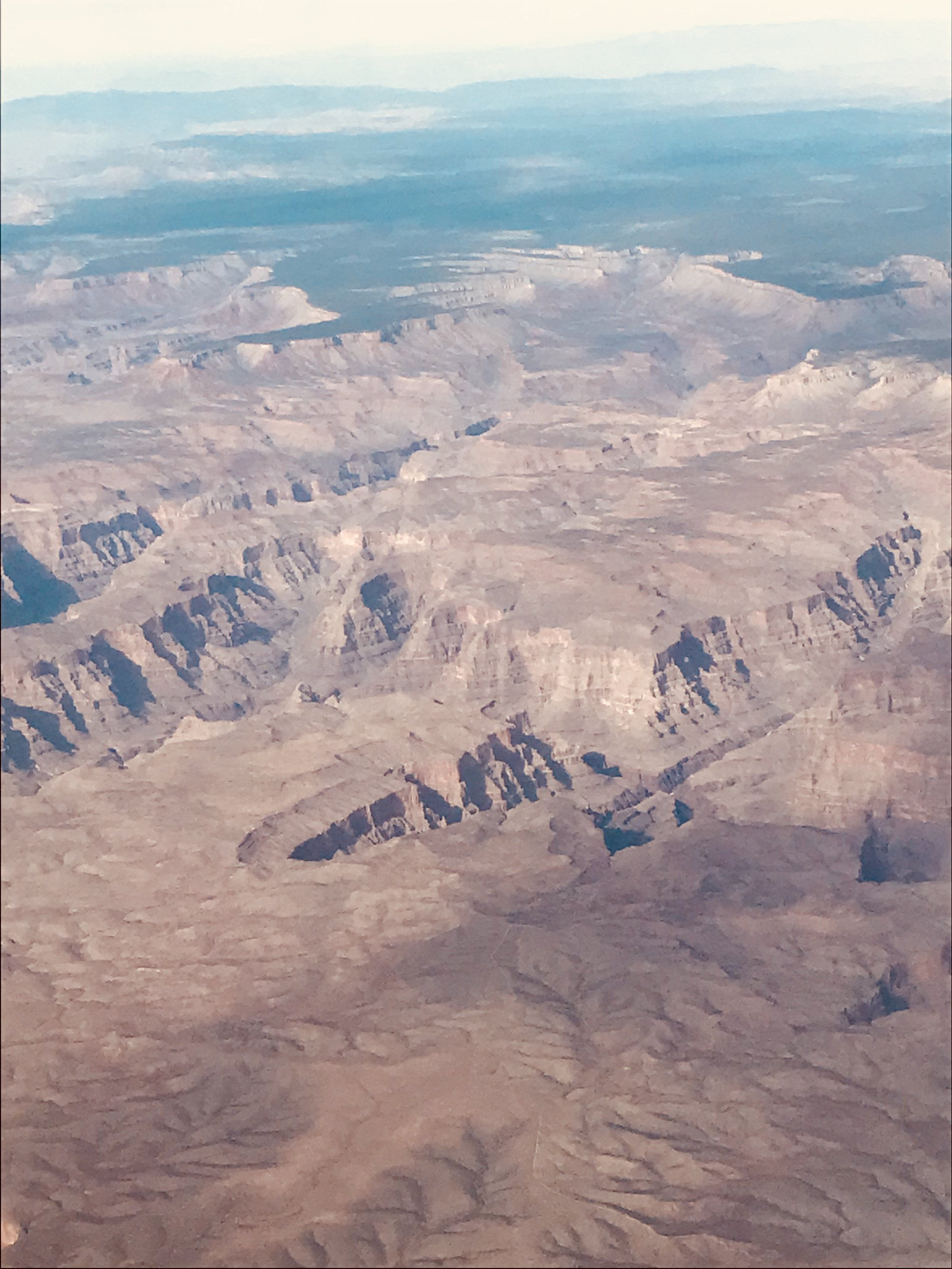 The Grand Canyon from the airplane