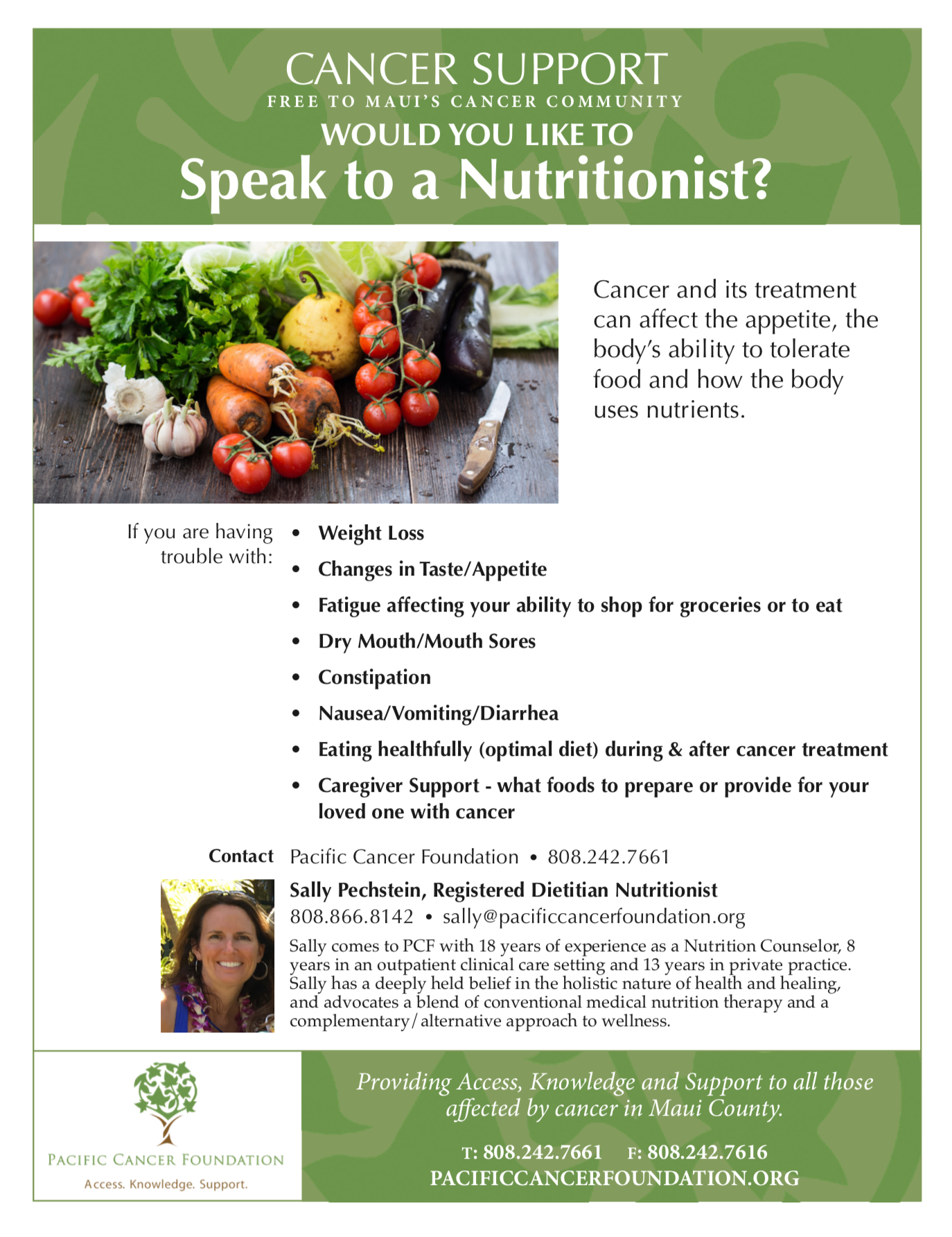 Nutritional Support Flyer