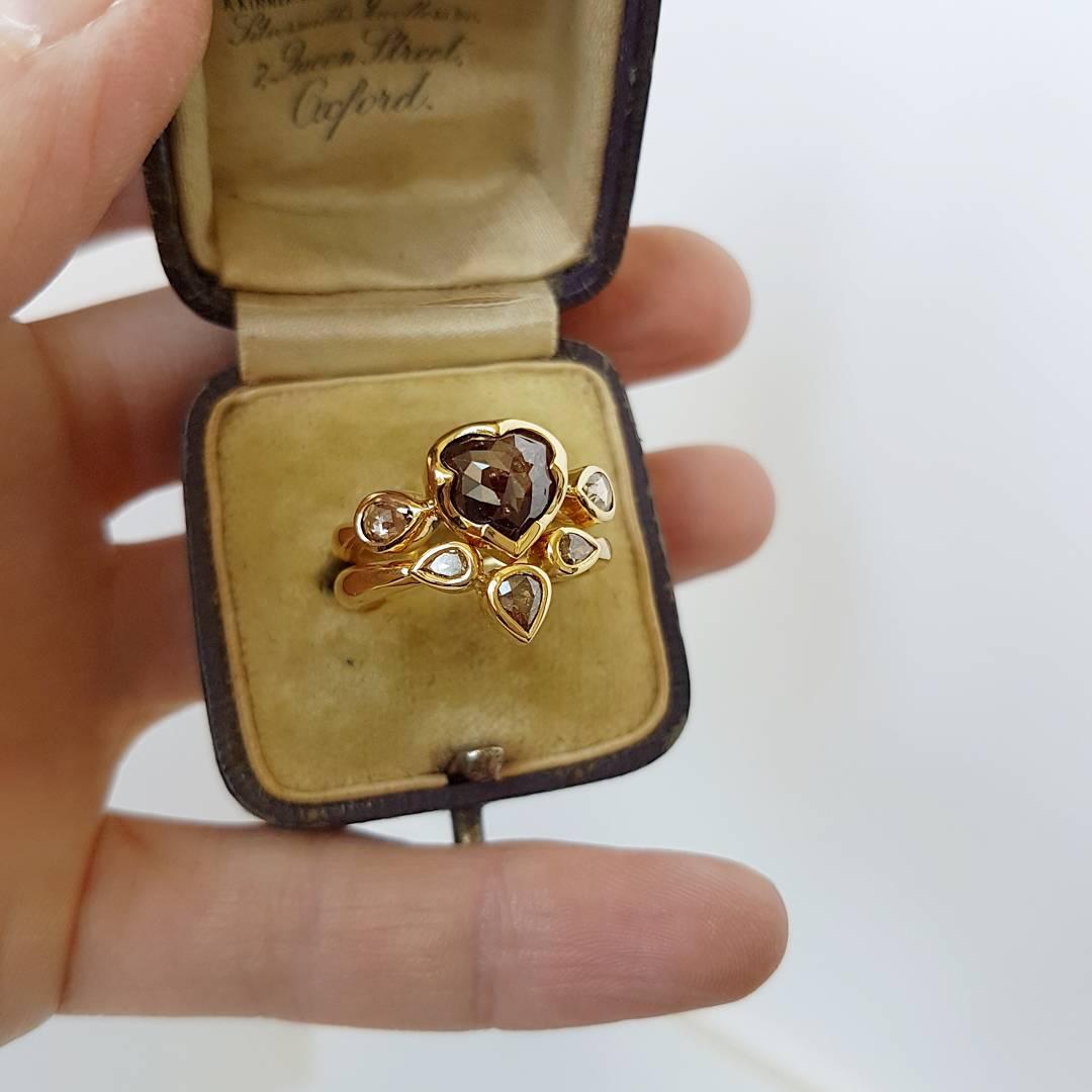 Chocolate Diamond Ring Set