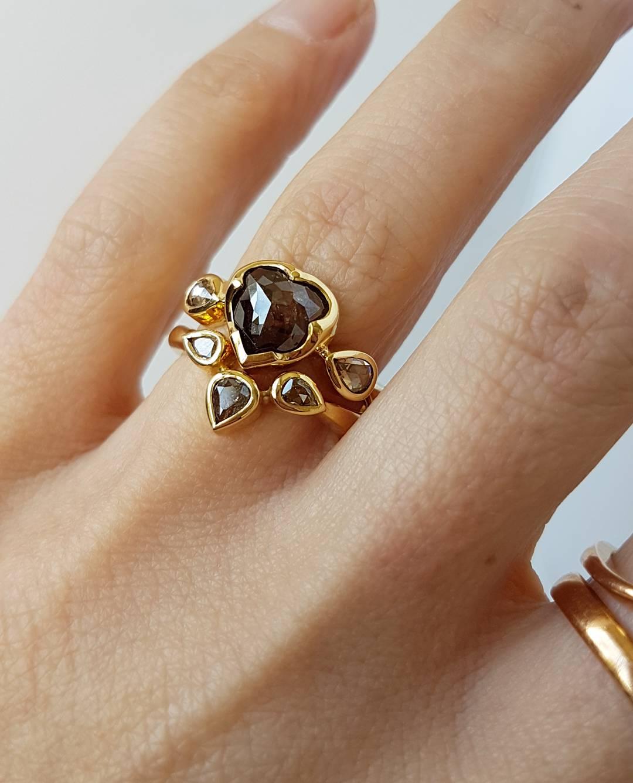 18ct Alternative Diamond Engagement Ring