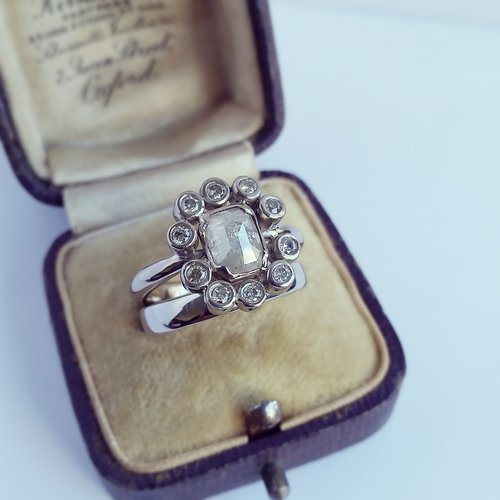 Custom+rose+cut+diamond+engagement+ring+set.jpg