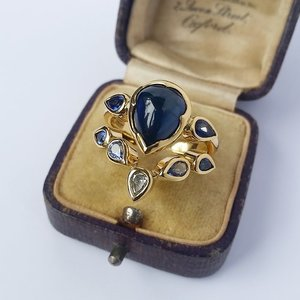Multi+Colour+Sapphire+Engagement+and+Wedding+ring+Set.jpg