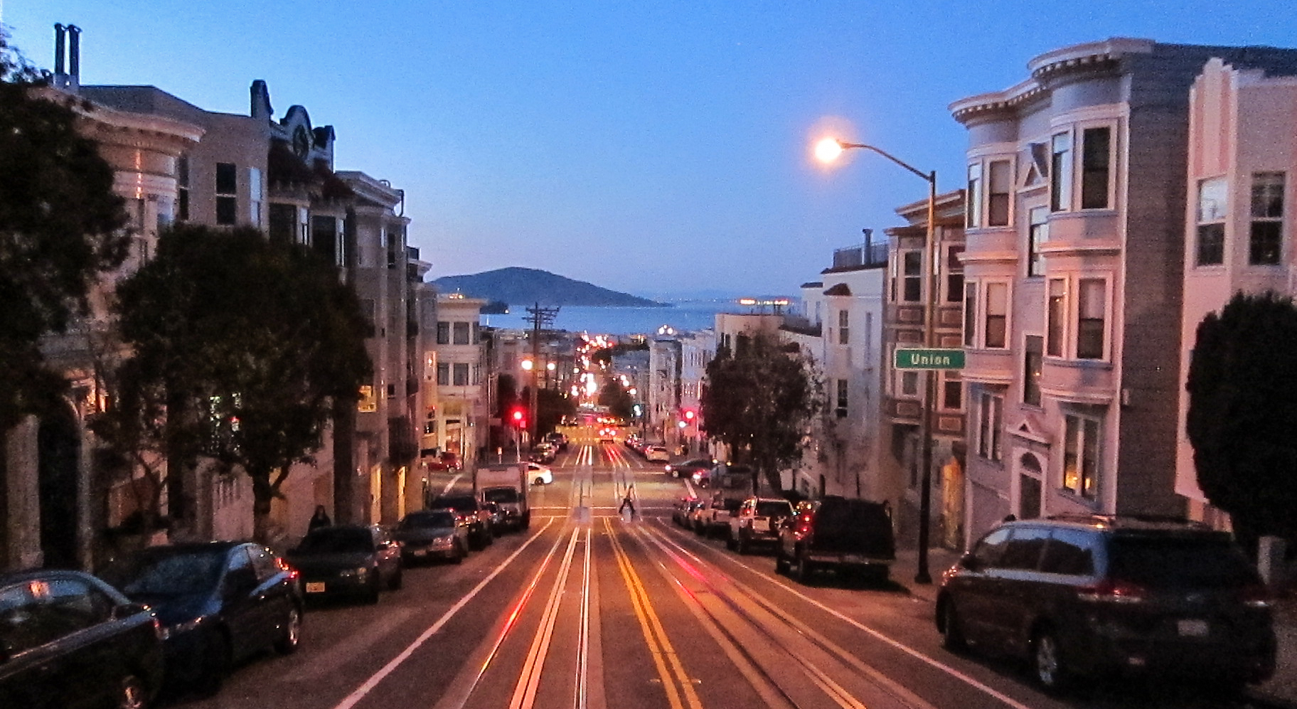 The view all the way down to Fisherman's Wharf.