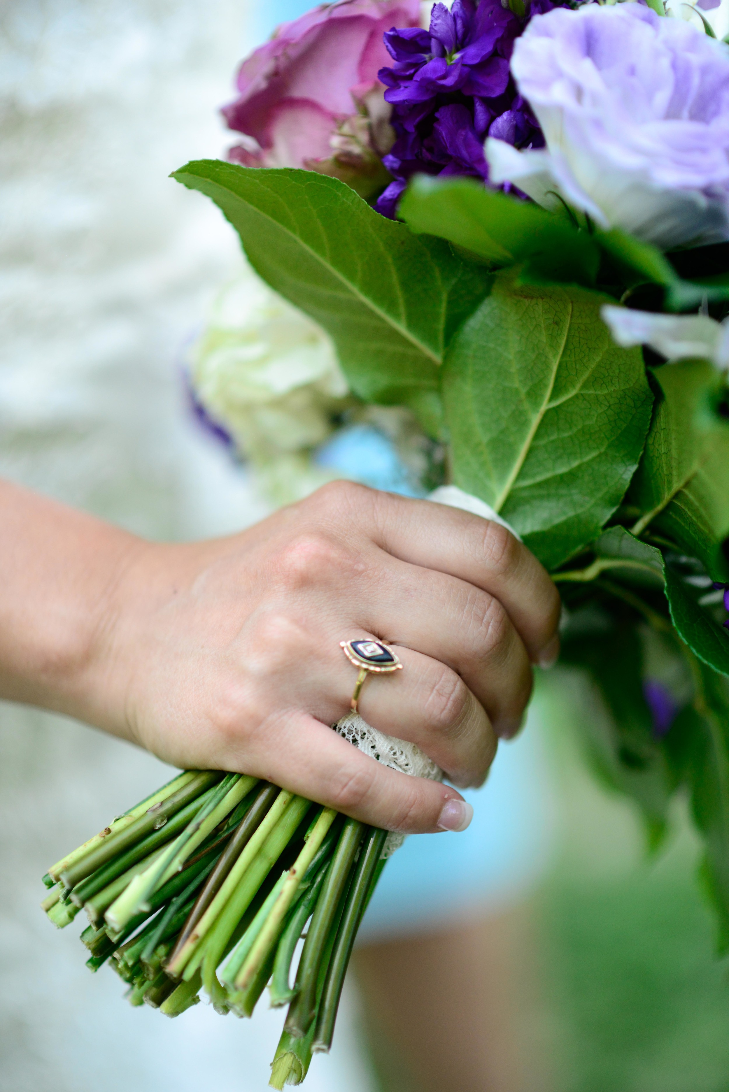 Anna had to have something special of her Grandmother's there for her big day.... so she chose this ring to have her there with her.