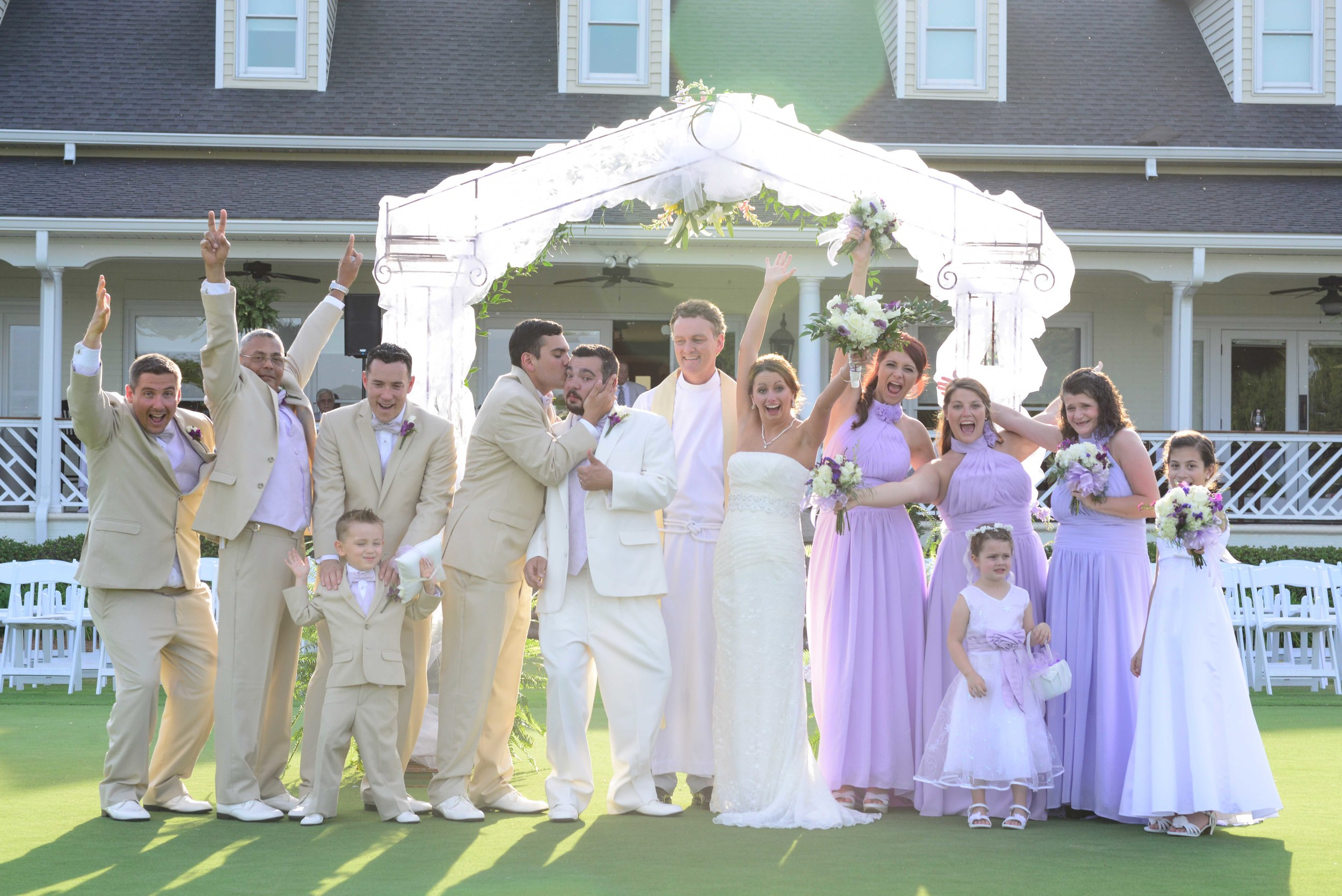 The Bridal Party celebrating right after the ceremony.