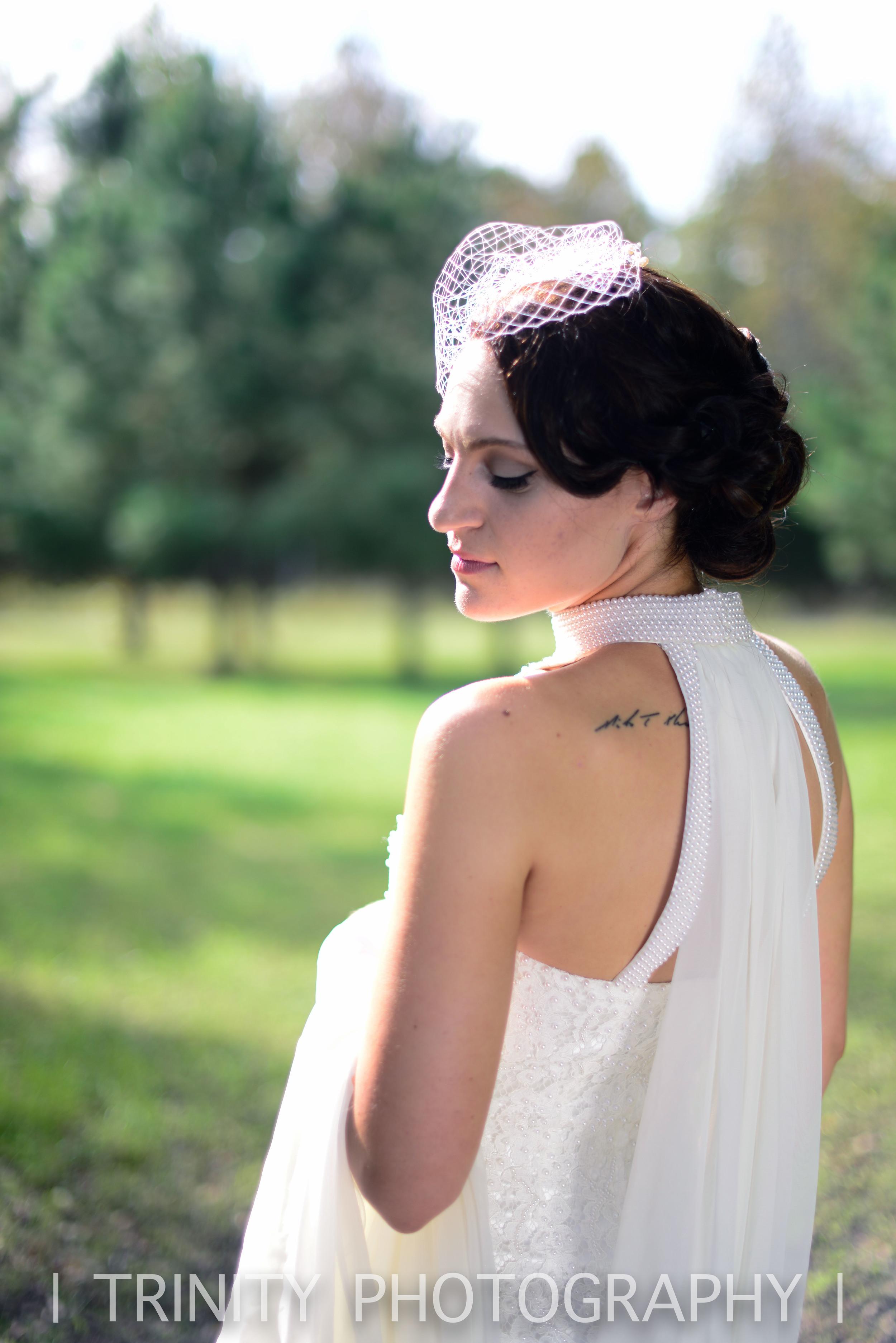 Elopement woods Bride