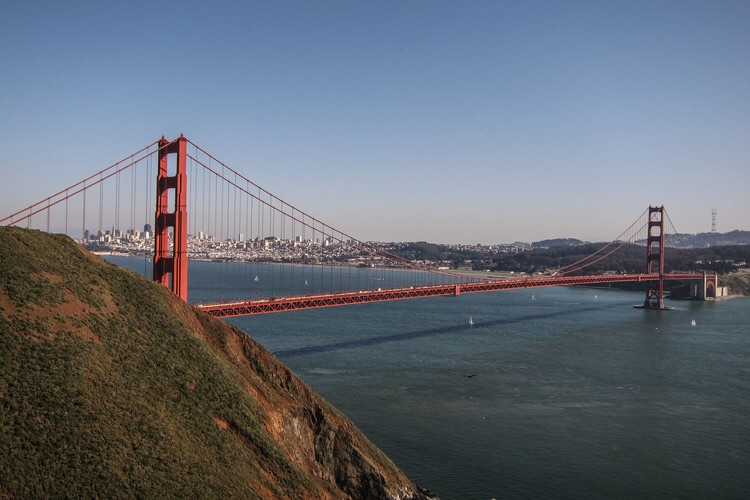 Afternoon at the Golden Gate Bridge.
