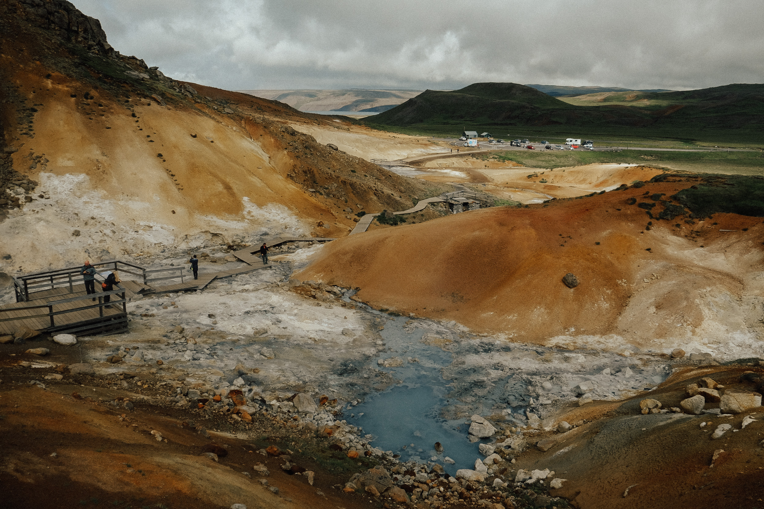 """Natural hot springs or """"hot pots"""" as they are often called, abound in Iceland. Although they are certainly not all swimmable, as some of them are almost lava temperature! So definitely check the signs before you stick a toe in."""