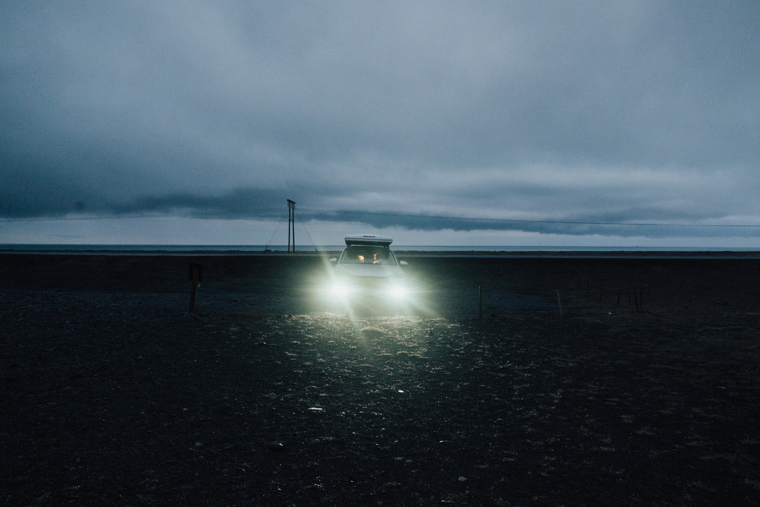 This was the darkest it ever got in Iceland and it was only because it was such heavy cloud cover.