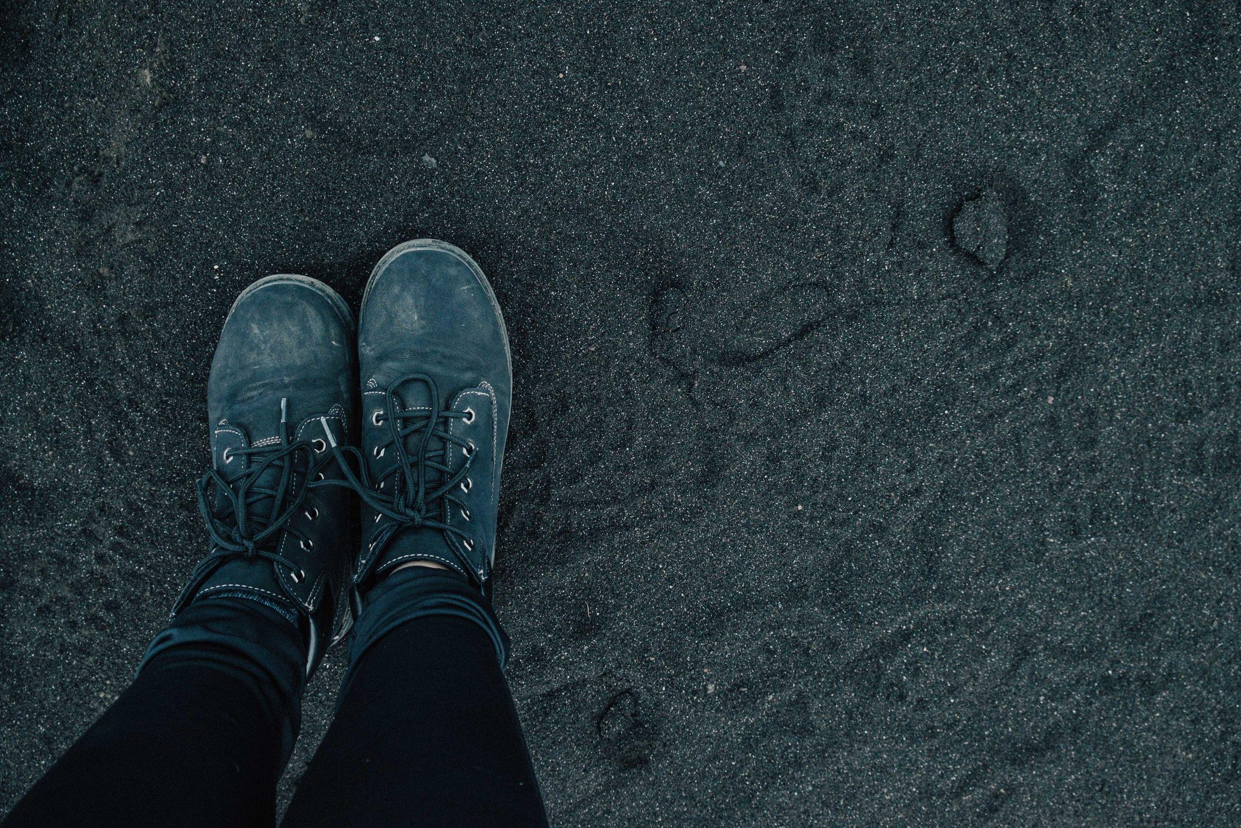 Waterproof shoes were my best friend in Iceland.