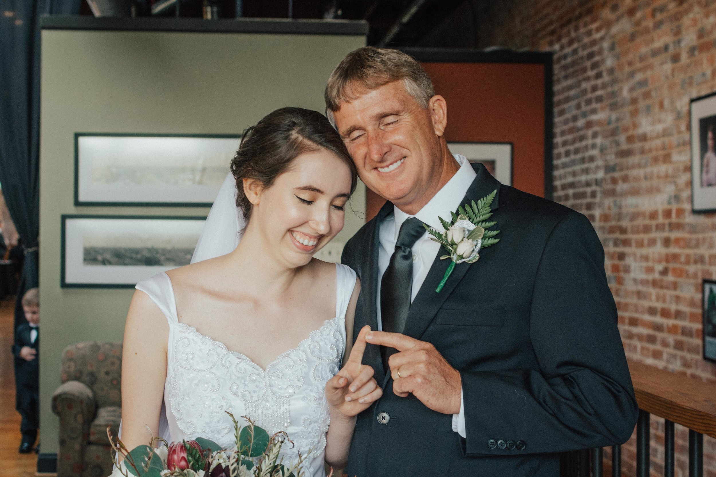 """Autumn and her father had this adorable little thing they did where they would touch fingertips as a kind of """"I love you"""" moment."""