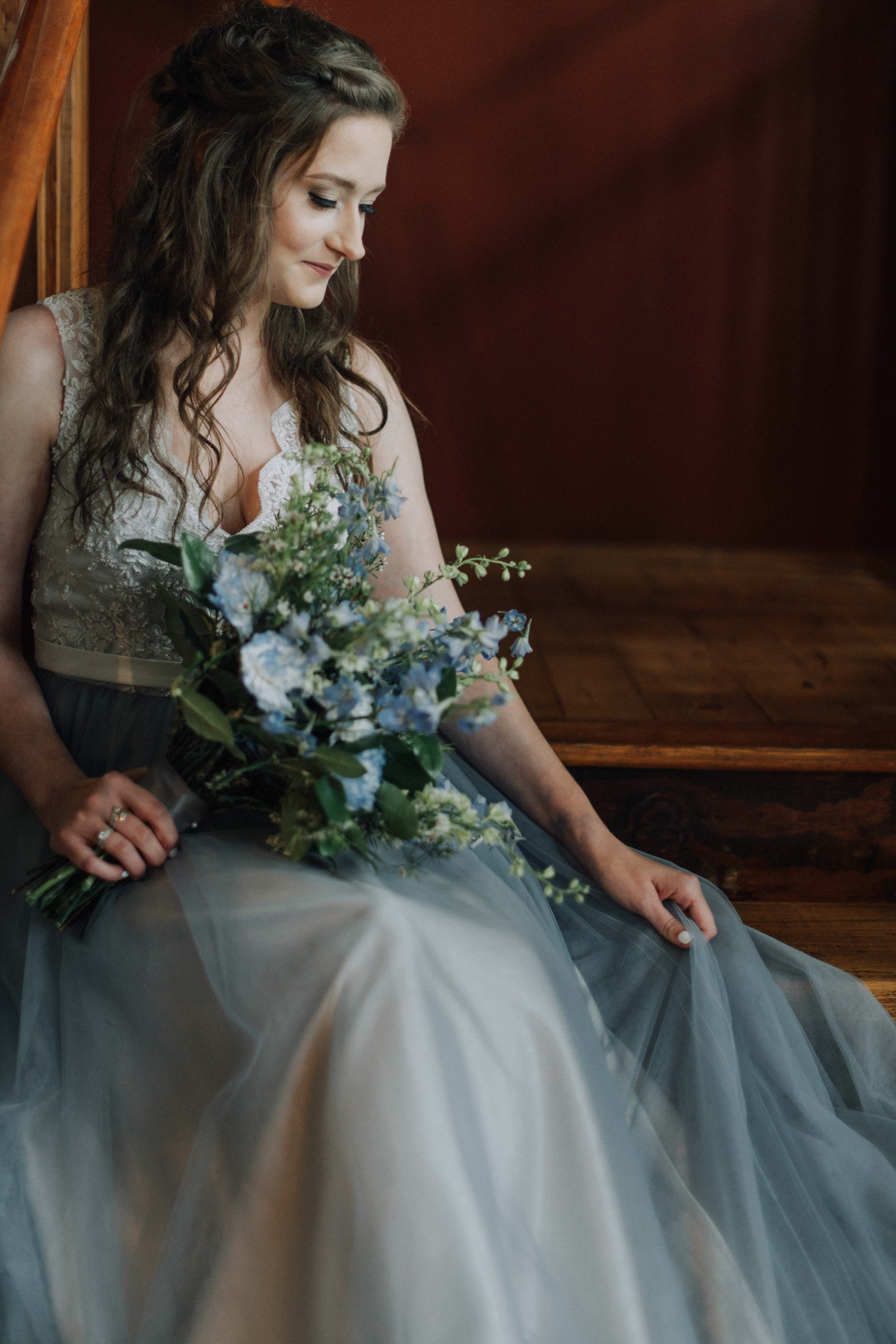 Elopement blue dress