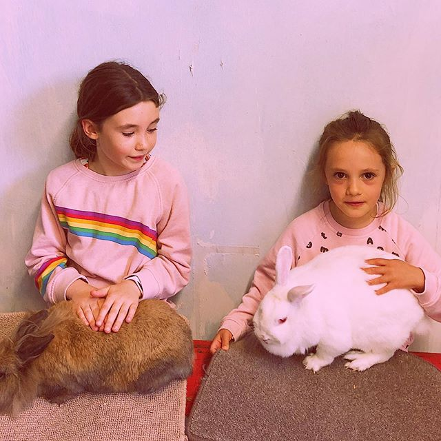 Fill your #fridays with L.O.V.E. 💗 💗💗🐰 #bestfriends4ever #bffgoals👭 #bunnylovers #prettyinpink #fridayvibes😎 #fridaymood #fridaysbelike #truelove #sisteract #sistersquad #fluffybunnies #cuddleswithbae #cuddletimes