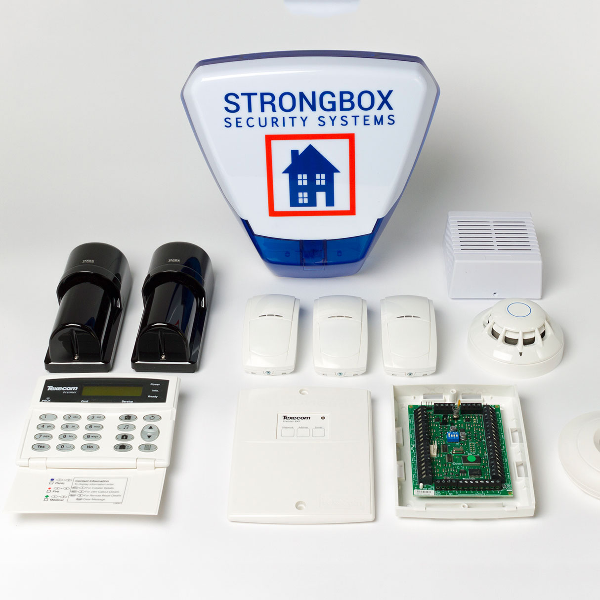 wireless intruder security alarm system components