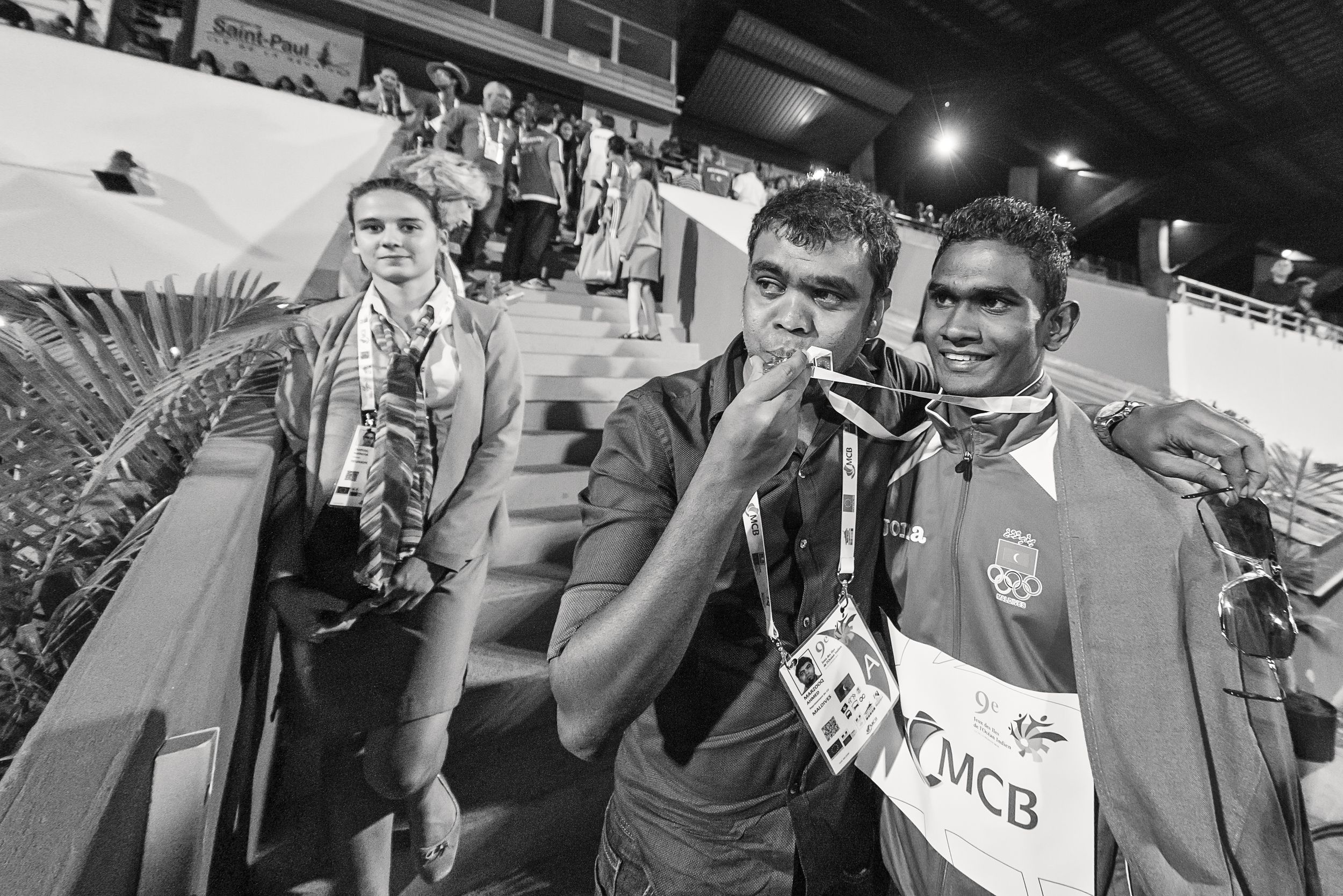 MOC General Secretary kissing the Gold Medal - His long invested dream come true