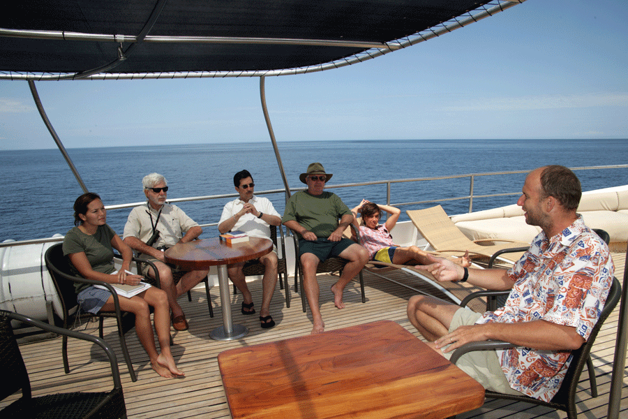 Lecture aboard the spa deck