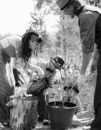 Family blending Tree Planting Ceremony