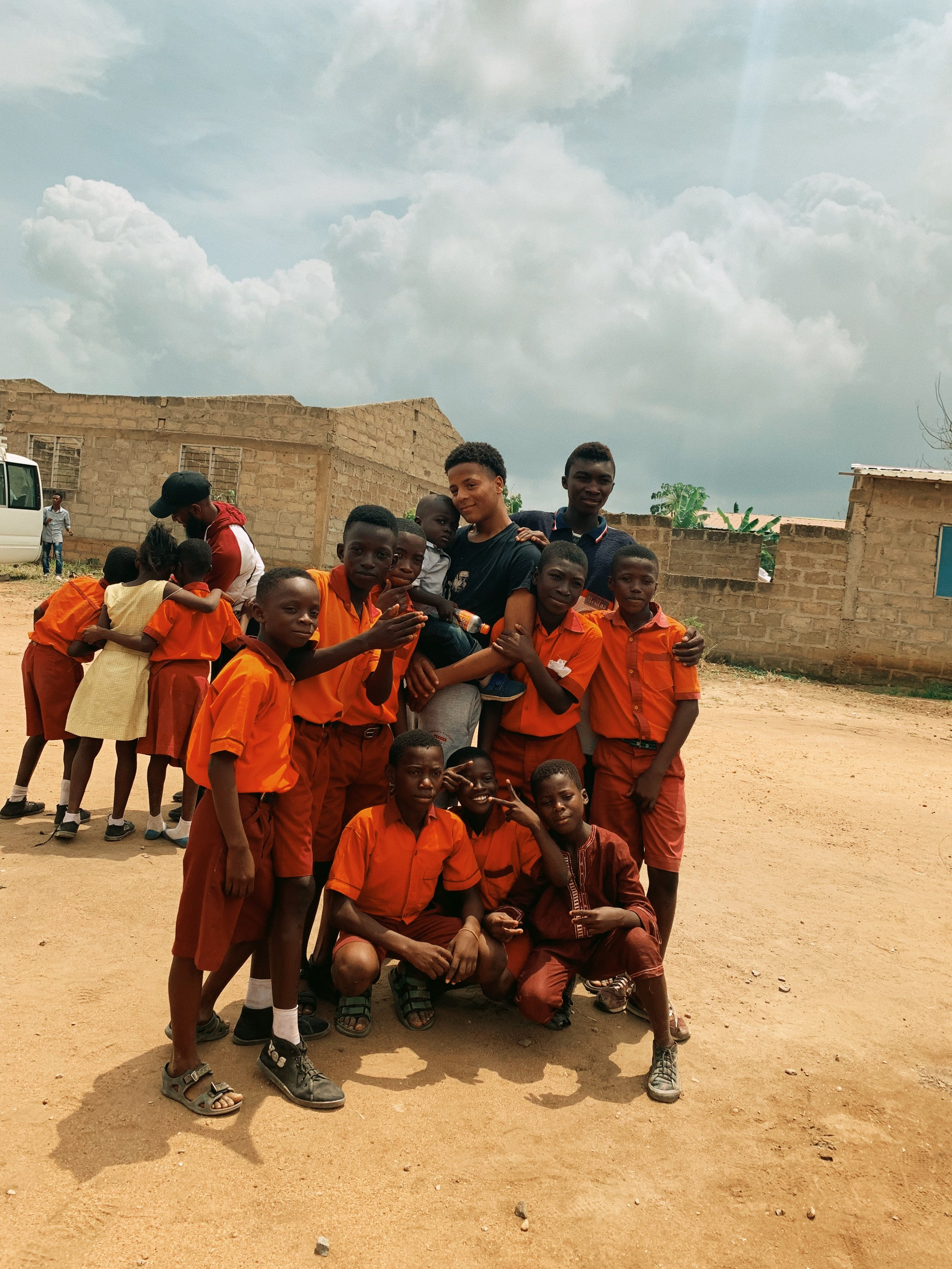 denzel x diamond gold students, ghana.