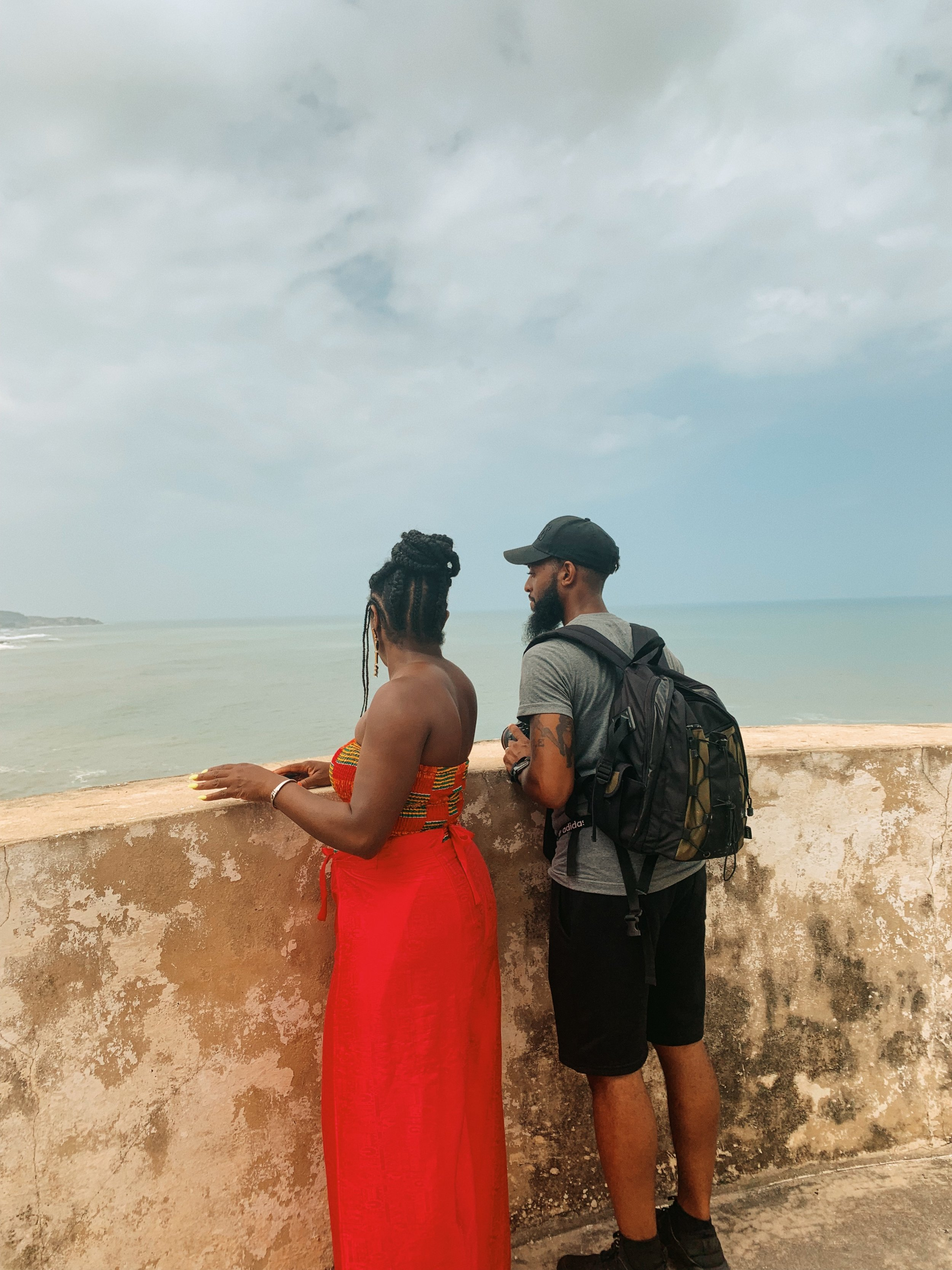sharayna + kyle x cape coast castle, ghana.