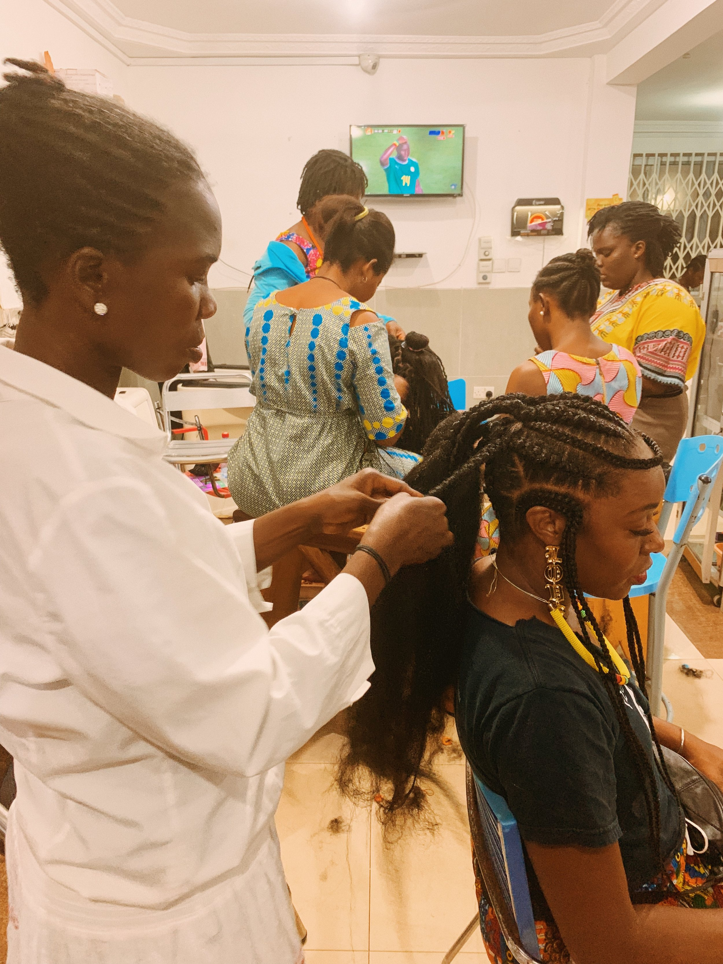 sharayna x alice hair braiding, ghana.