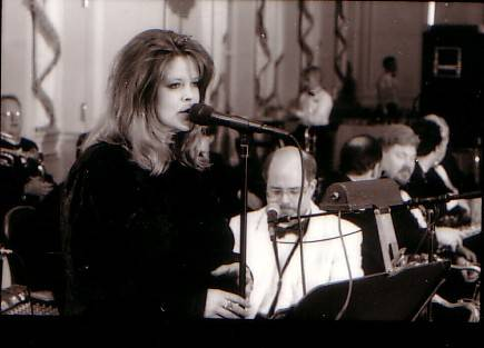 Andrea with the Ron Rudkin Band and Orchestra performing at The Emerywood Country Club.